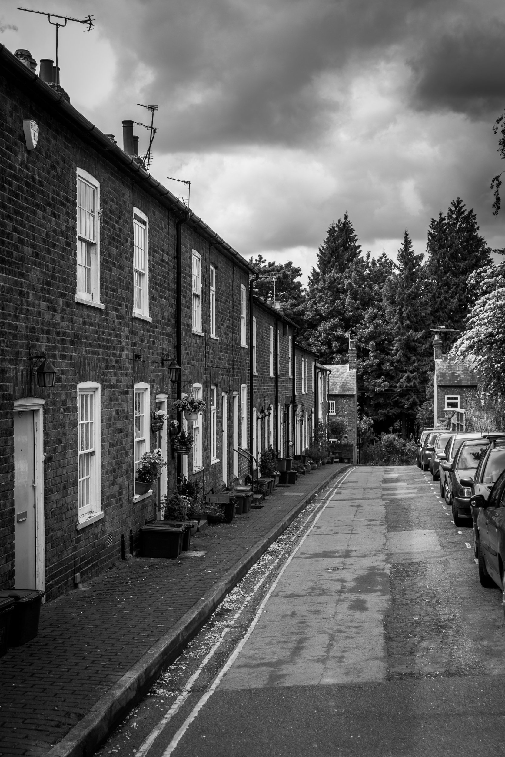 An old street in St. Albans. Shot with Fujifilm X-E1 with Olympus 35mm f/2.8 at 1/500 sec f/5.6 ISO 200