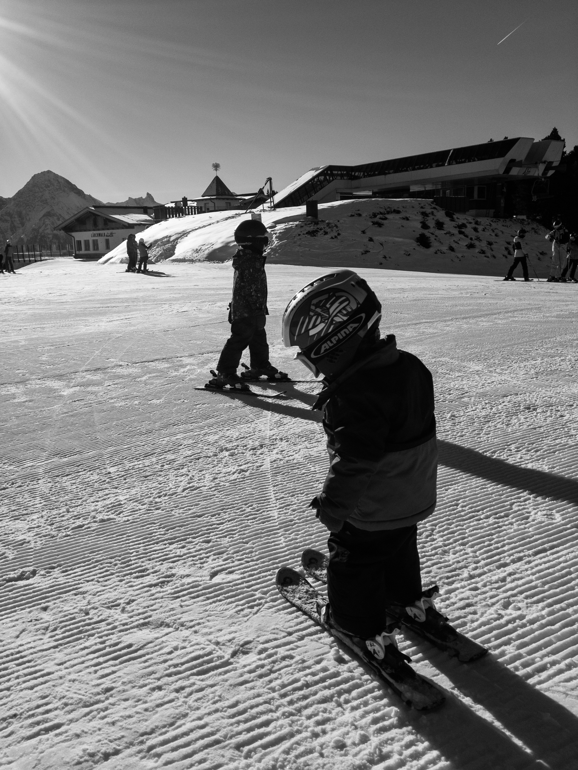 The boys on one of our first days on the mountain last season, this time with both boys on skis. cant wait for the winter to come around again! 7 weeks and counting!