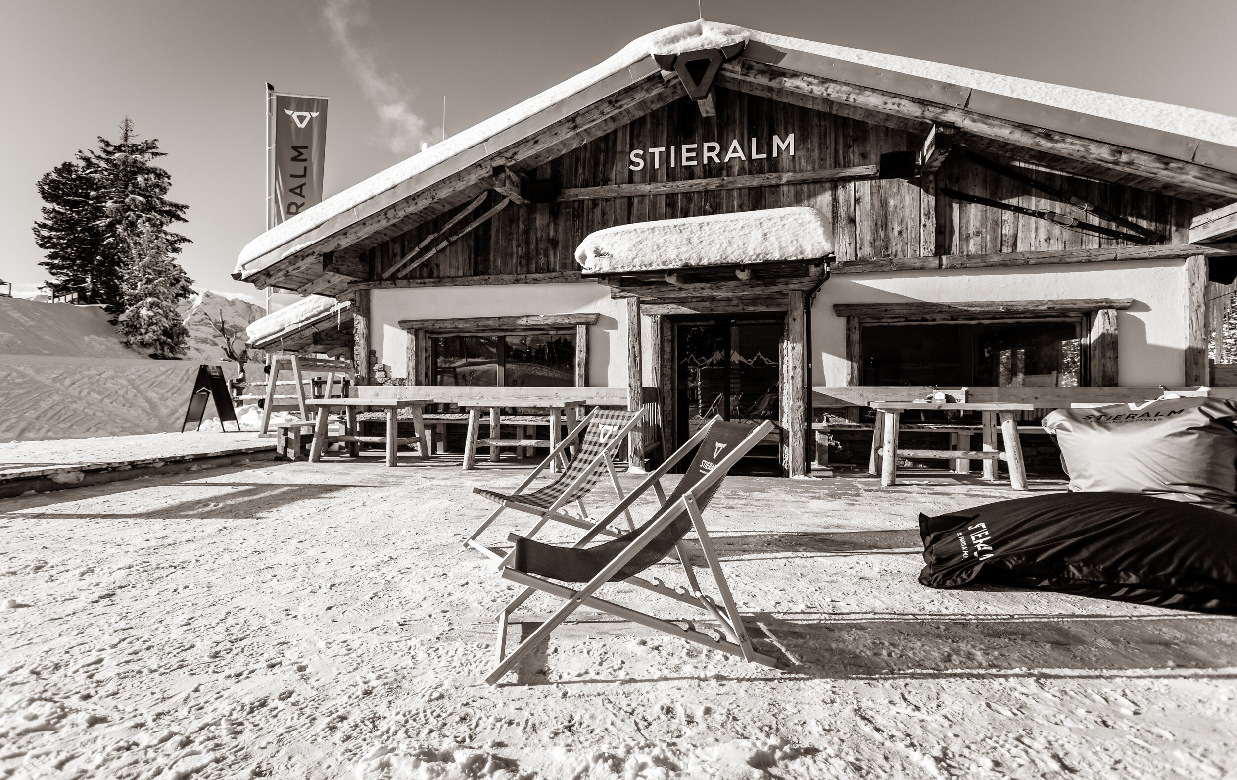 The Stieralm on the Penken mountain, during a photo shoot for its opening last winter.