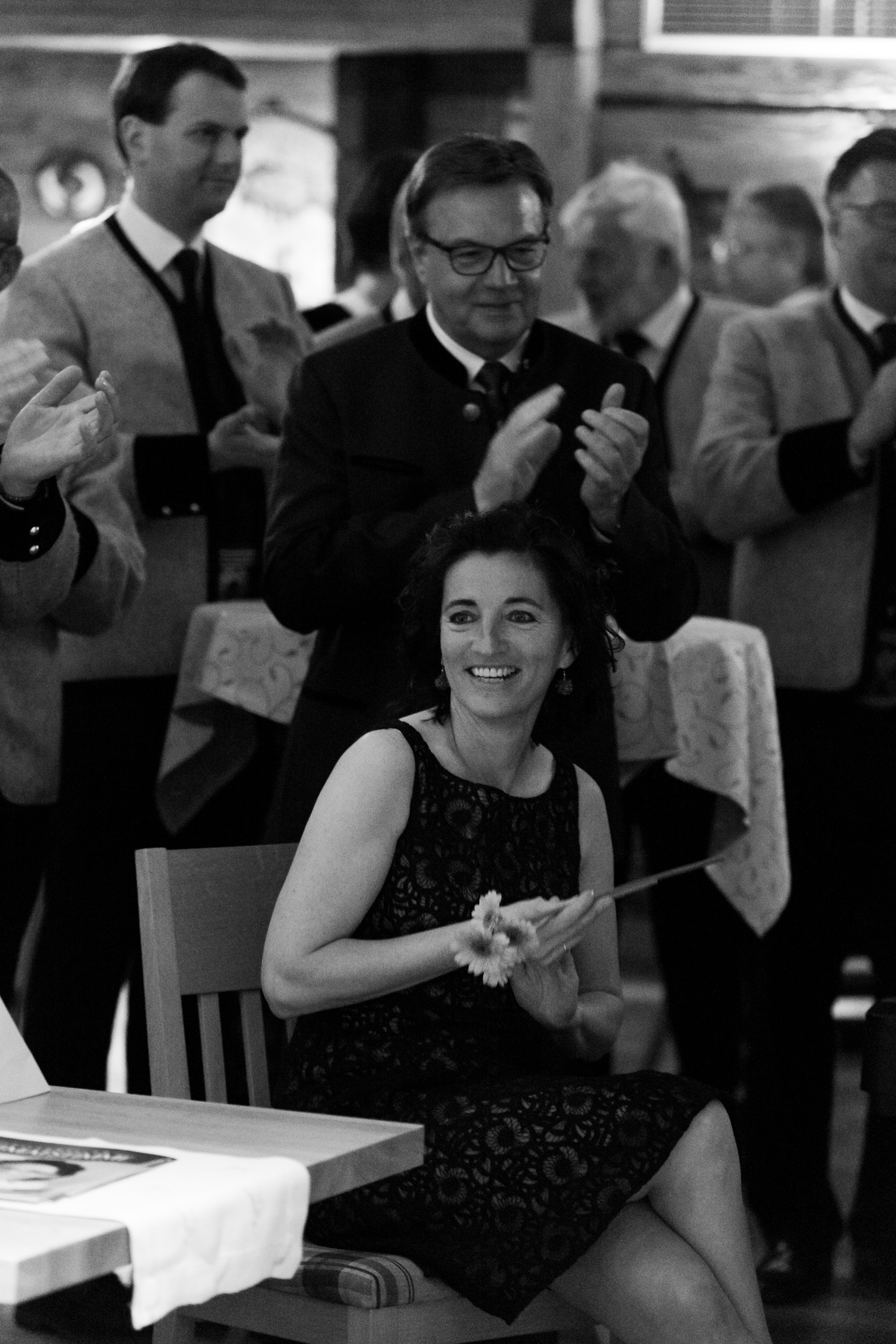 Our Mayor (Bürgermeisterin), Monica Wechselberger, looking fabulous on her birthday (not going to say which one as its impolite to say a ladies age!) with the Govenor of Tirol, Günther Platter.