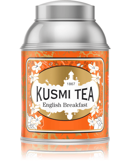 English Breakfast is a delicious blend of two black teas from India: a Ceylon tea with a rich, powerful flavour, and an Assam tea with a round, intense taste. This combination, with powerful tannins, will delight those who like full-bodied teas.
