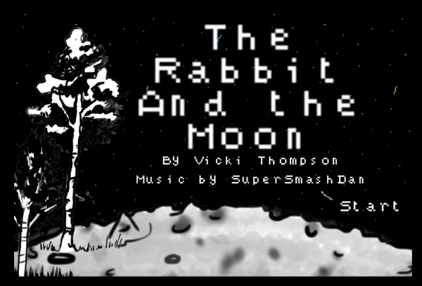 The Rabbit And the Moon  was a small weekend project I published back in 2014 just for the pure thrill of creating, culminating in a short, illustrated text adventure about a rabbit that finds themselves on a pensive moon.    https://vickigamedev.itch.io/the-rabbit-and-the-moon
