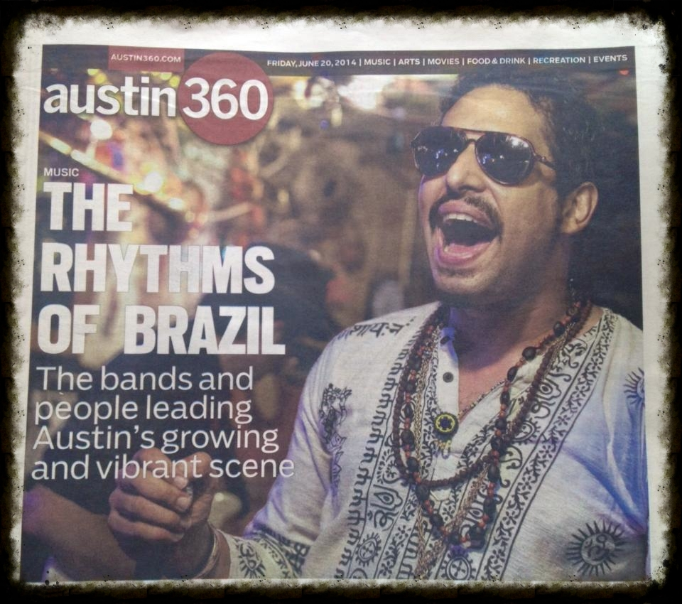 F7   on the cover of the Newspaper @   Macaxeira Funk  's debut show - 06/13/2014 @   the Sahara Lounge