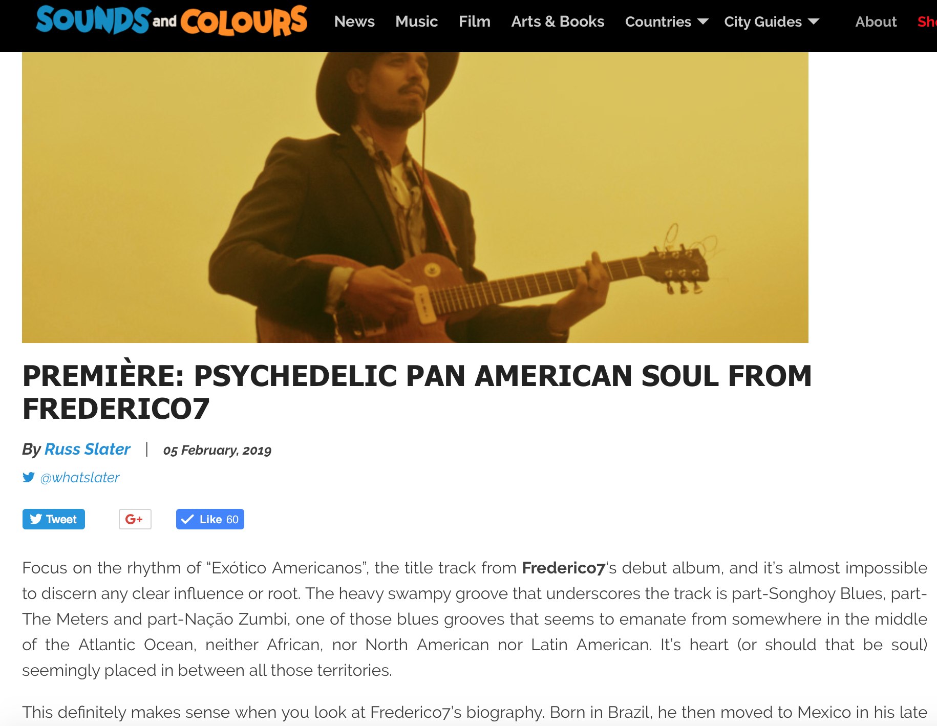 """Sounds and Colours on the Title Track… - """"The heavy swampy groove that underscores the track is part-Songhoy Blues, part-The Meters and part-Nação Zumbi, one of those blues grooves that seems to emanate from somewhere in the middle of the Atlantic Ocean, neither African, nor North American nor Latin American. It's heart (or should that be soul) seemingly placed in between all those territories."""""""