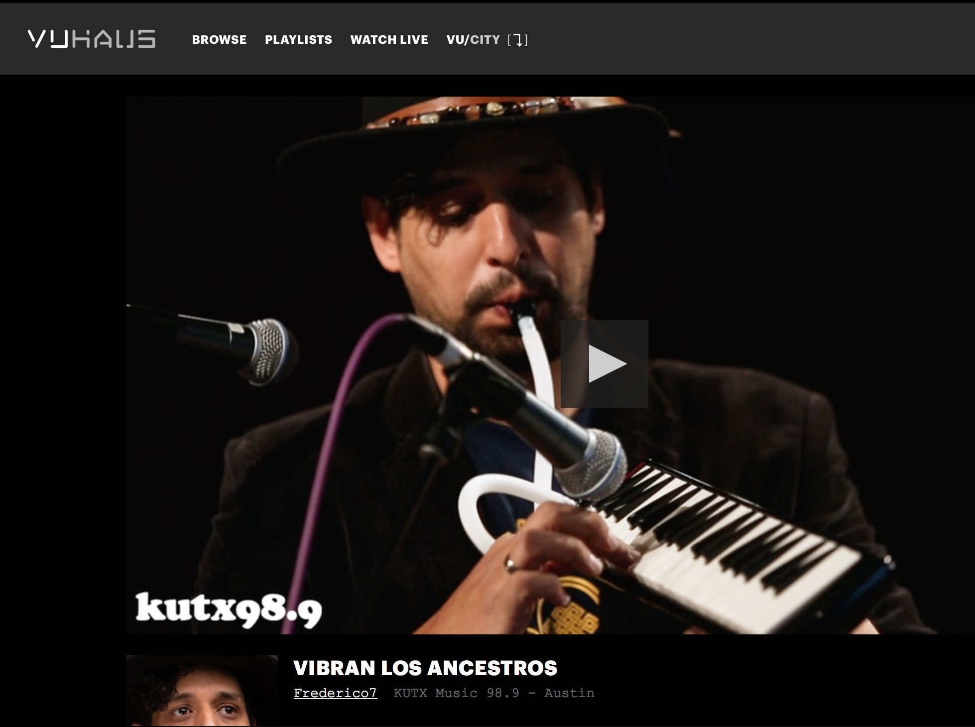 Vibran los Ancestros live performance  - Click on Image to enjoy the video