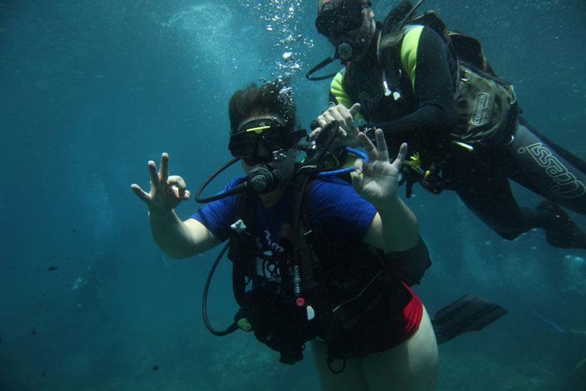 Under the Mediterranean Sea