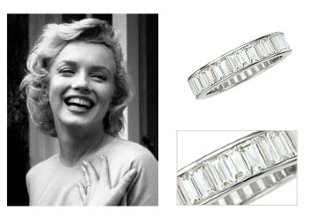 Marilyn's platinum and diamond eternity band
