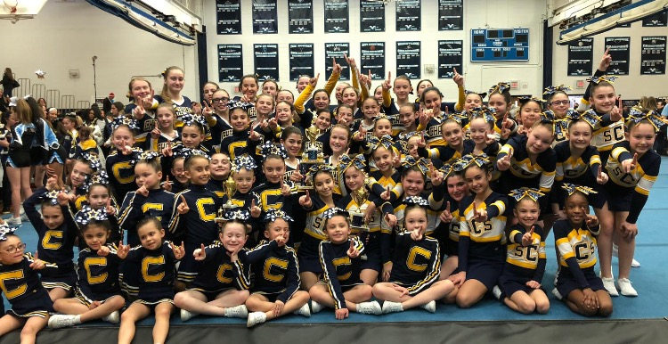 SCS Cheerleaders Varsity, Debs, and Biddys take First place! (Photo credit:Felicia Fasino)
