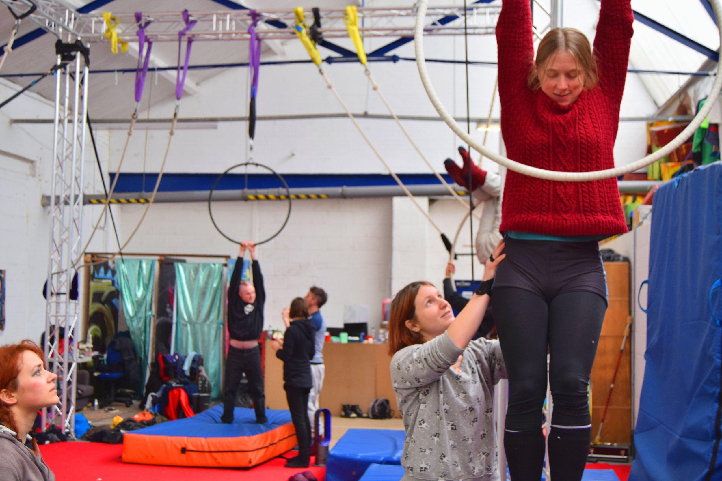 Aerial Hoop Workshop as part of the Aerial Development Programme