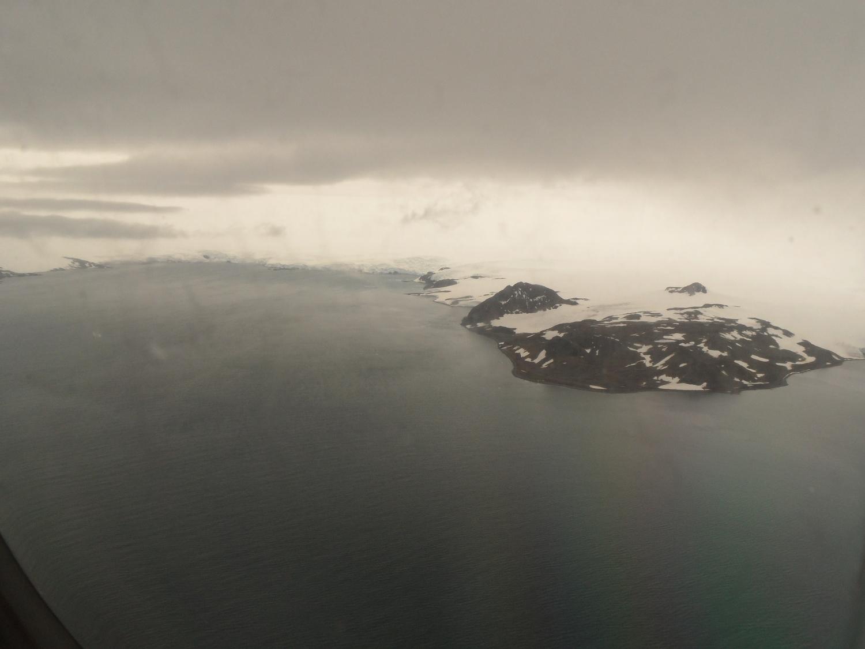 Landing at Frei Station Airport in Antarctica