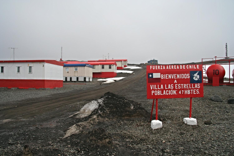 The Chilean town of Villa Las Estrellas in Antarctica