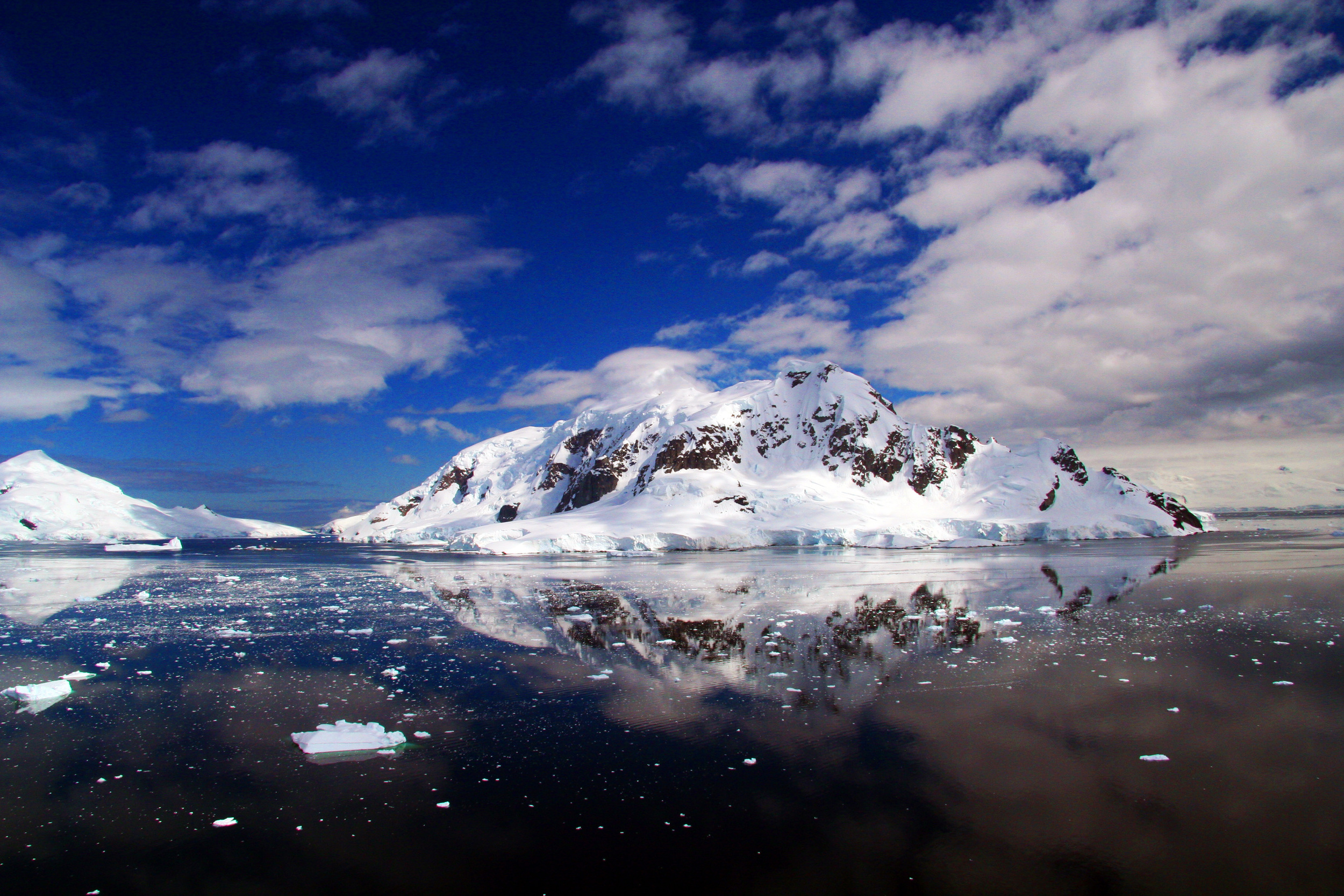 Incredible view from the top of a mountain in Antarctica