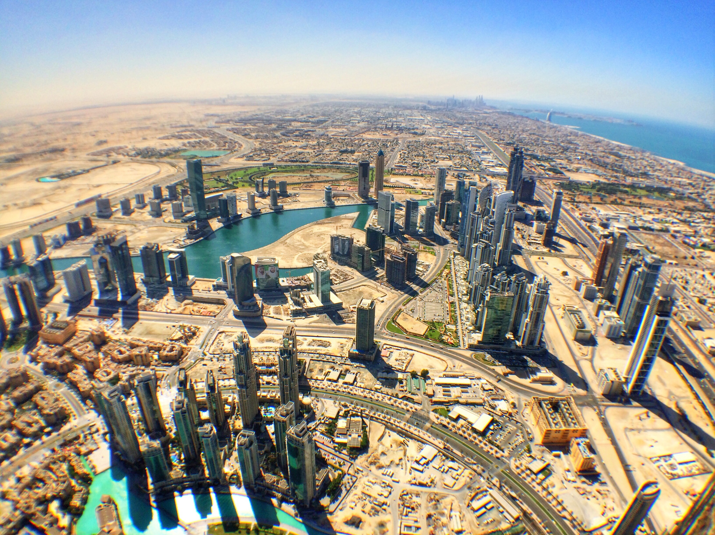 View of Dubai to the South from Burj Khalifa
