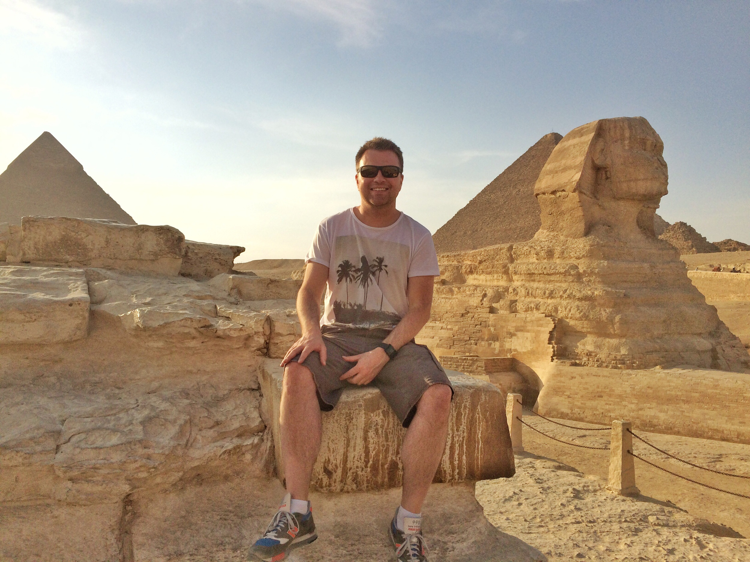 Me next to The Great Sphinx of Giza