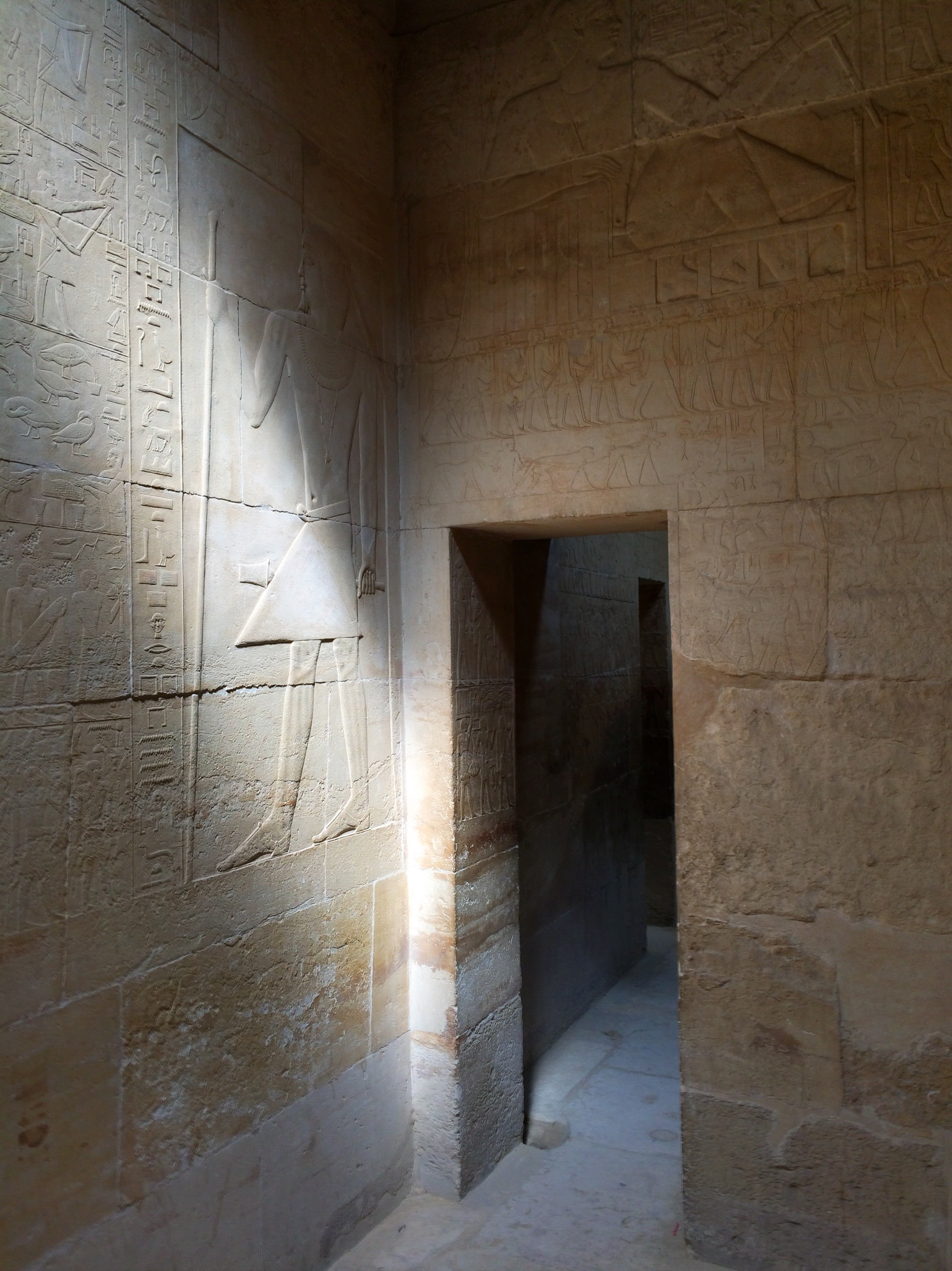 Inside the funerary complex next to the Teti Pyramid