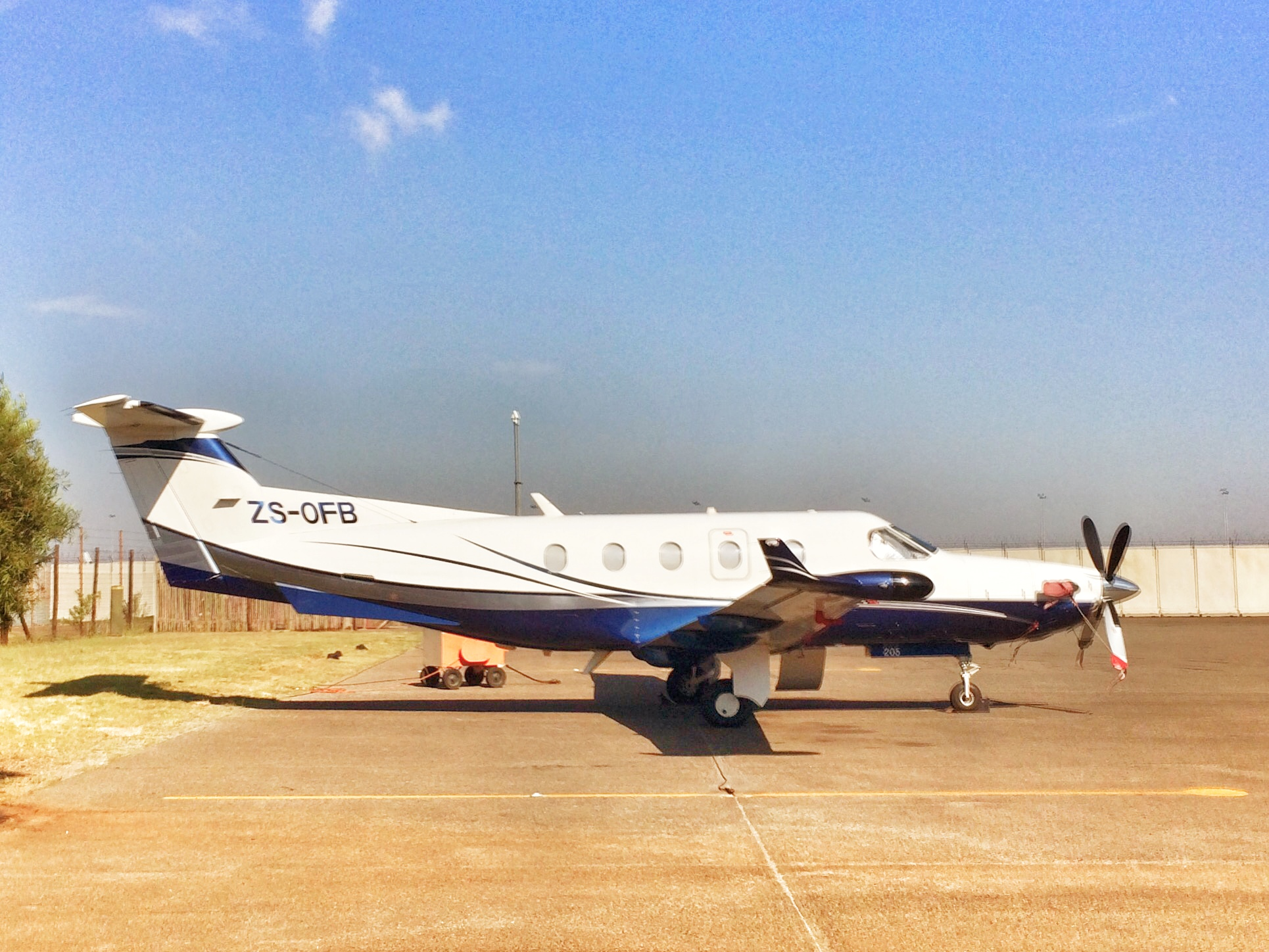 Our chartered aircraft from Johannesburg to Thornybush.