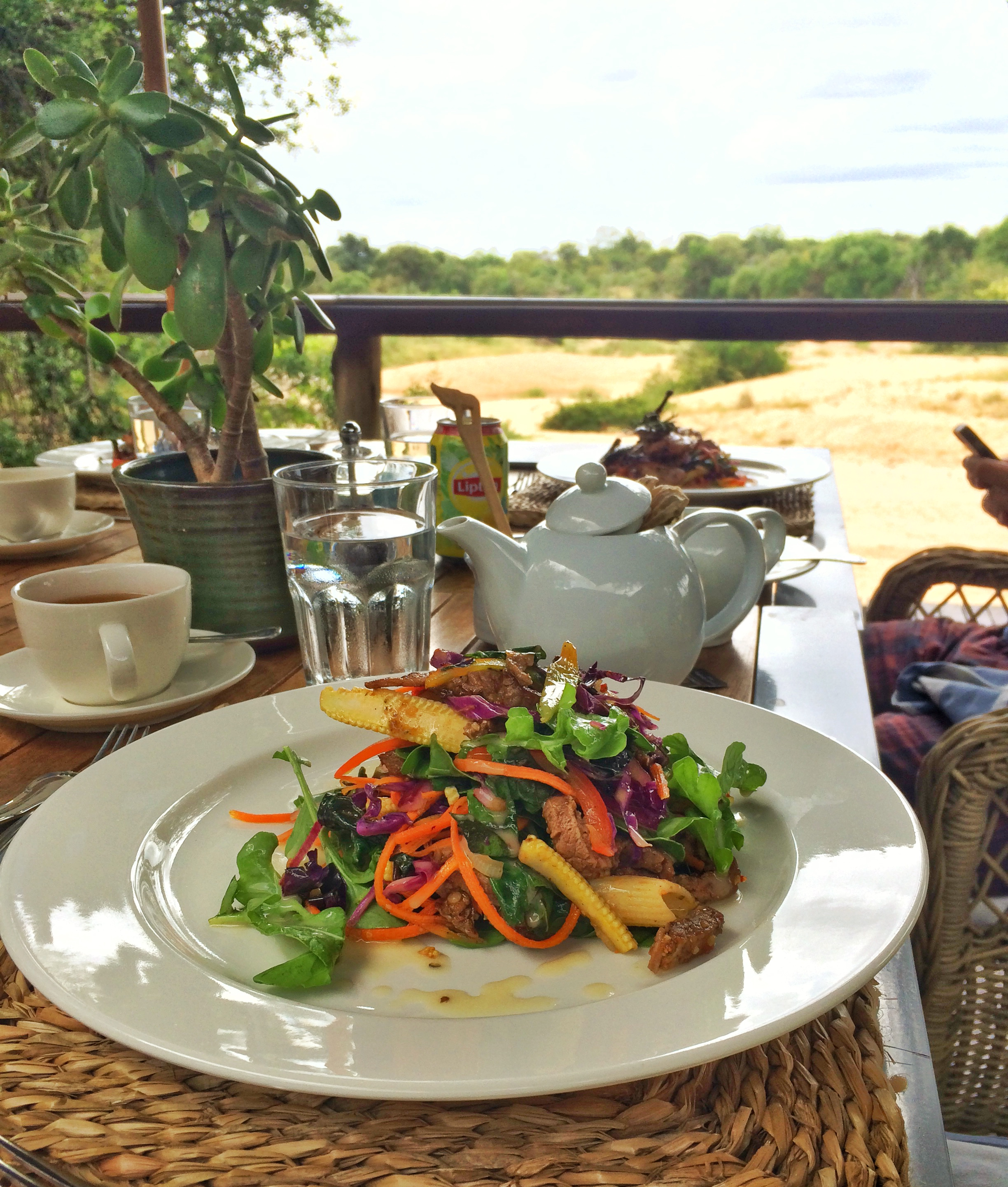 One of the many delicious meals enjoyed at Thornybush.