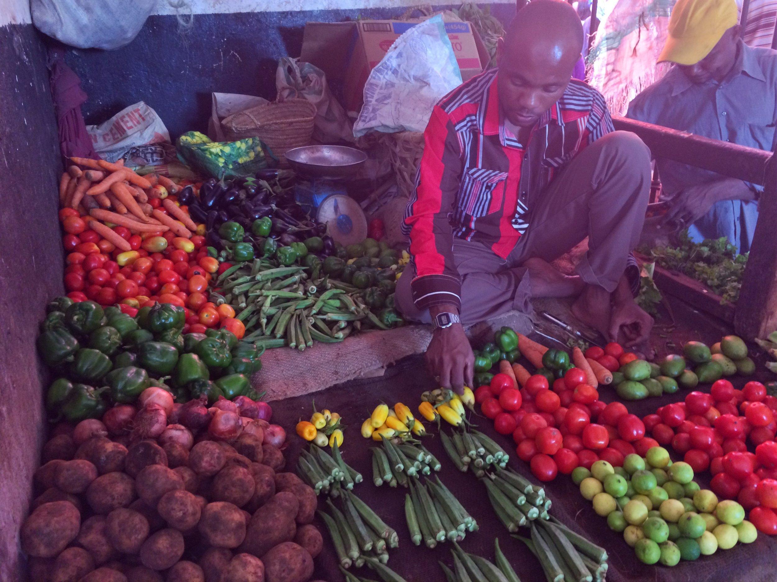 Vegetables at the Zanzibar market