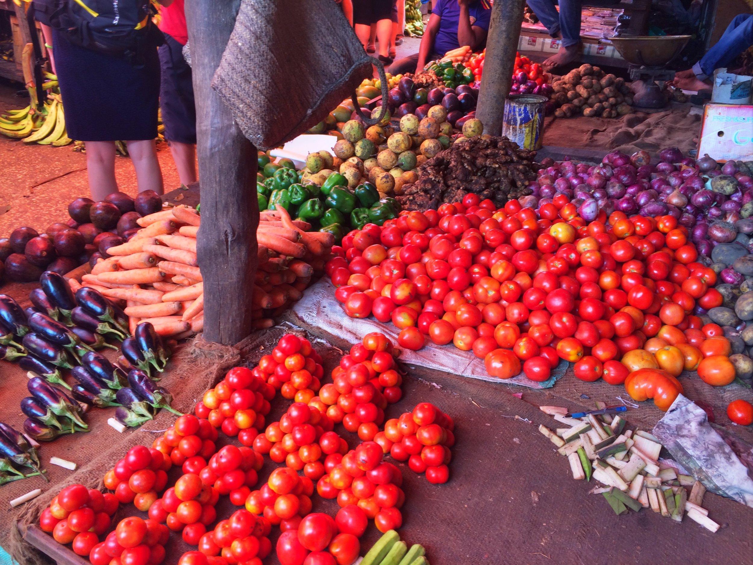 More vegetables at Zanzibar's market