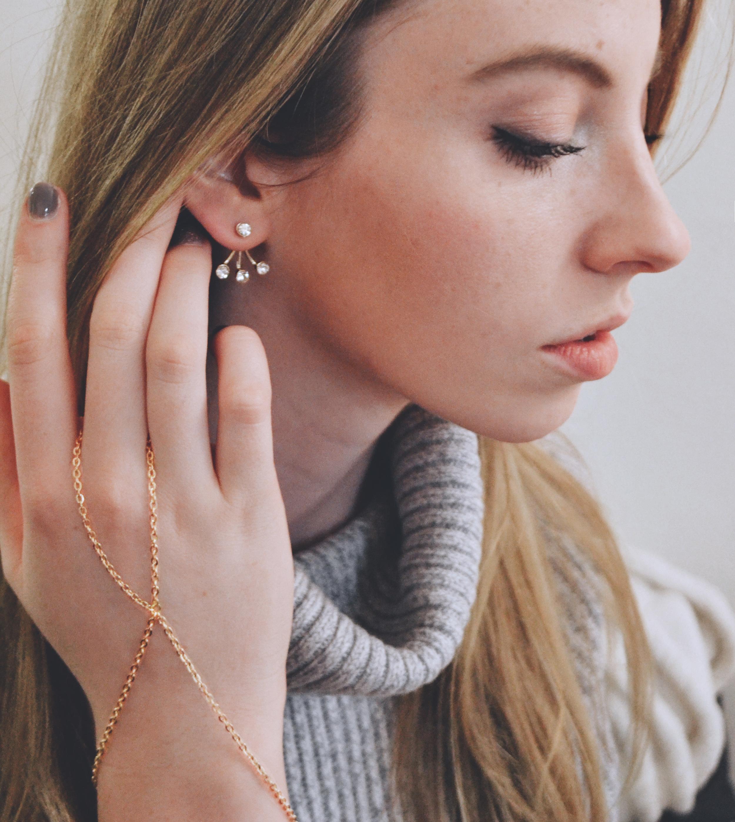 Ear Jacket & Hand Chain Bracelet | Girl x Garment