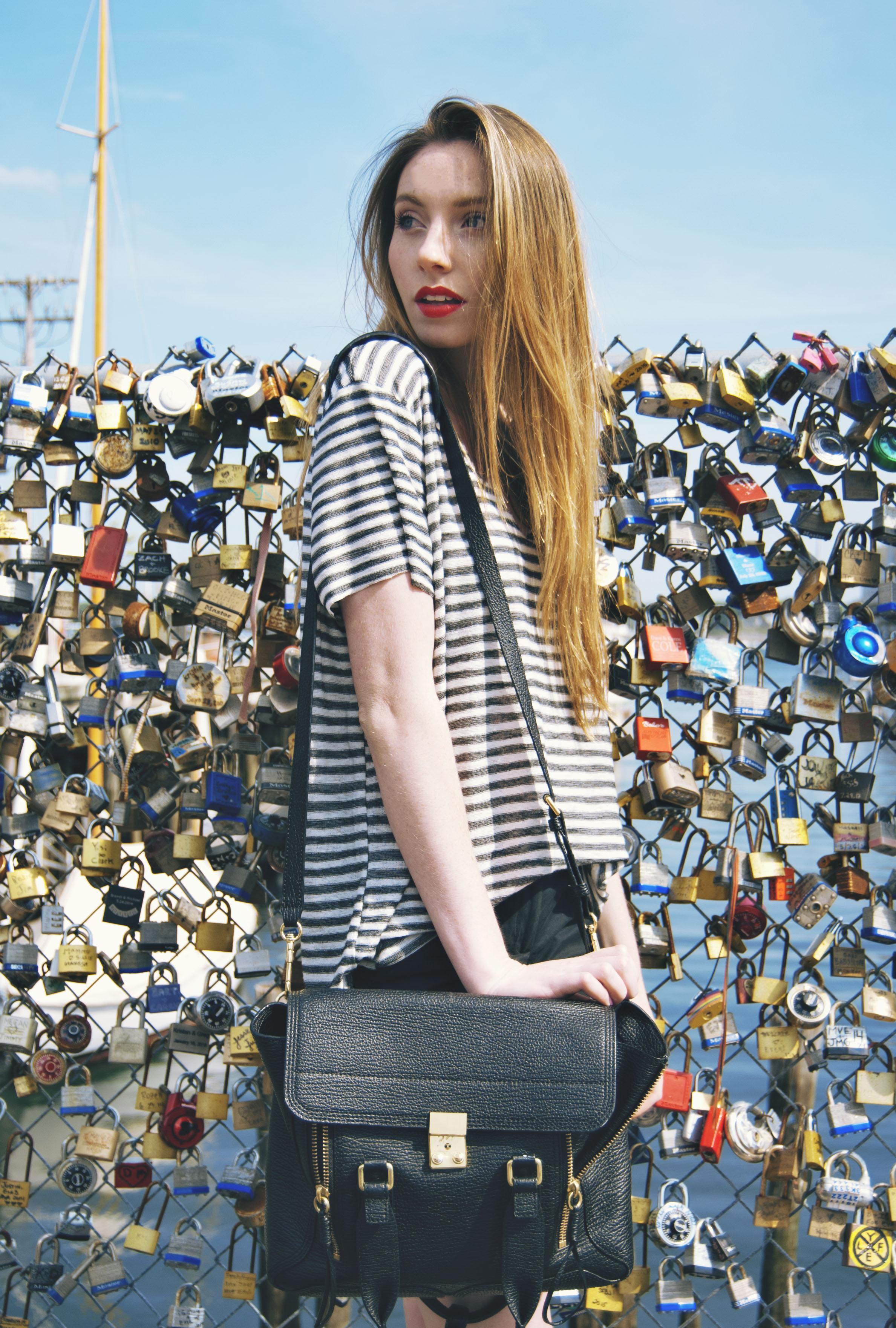Stripes & Red Lip   Girl x Garment