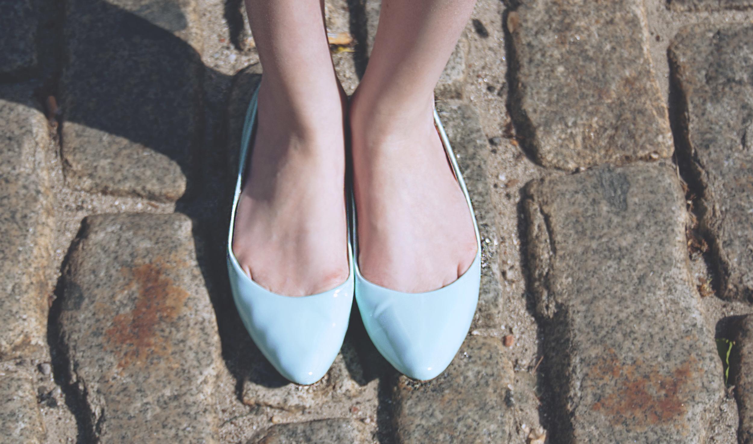 Mint Blue Flats   Girl x Garment