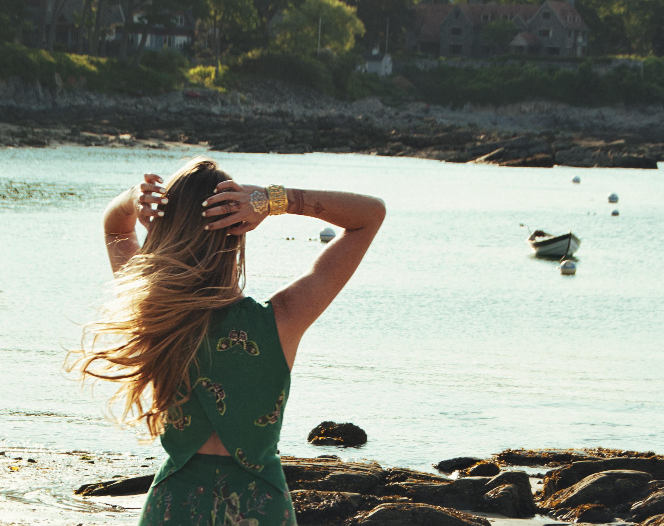 Green Romper (via Girl x Garment)