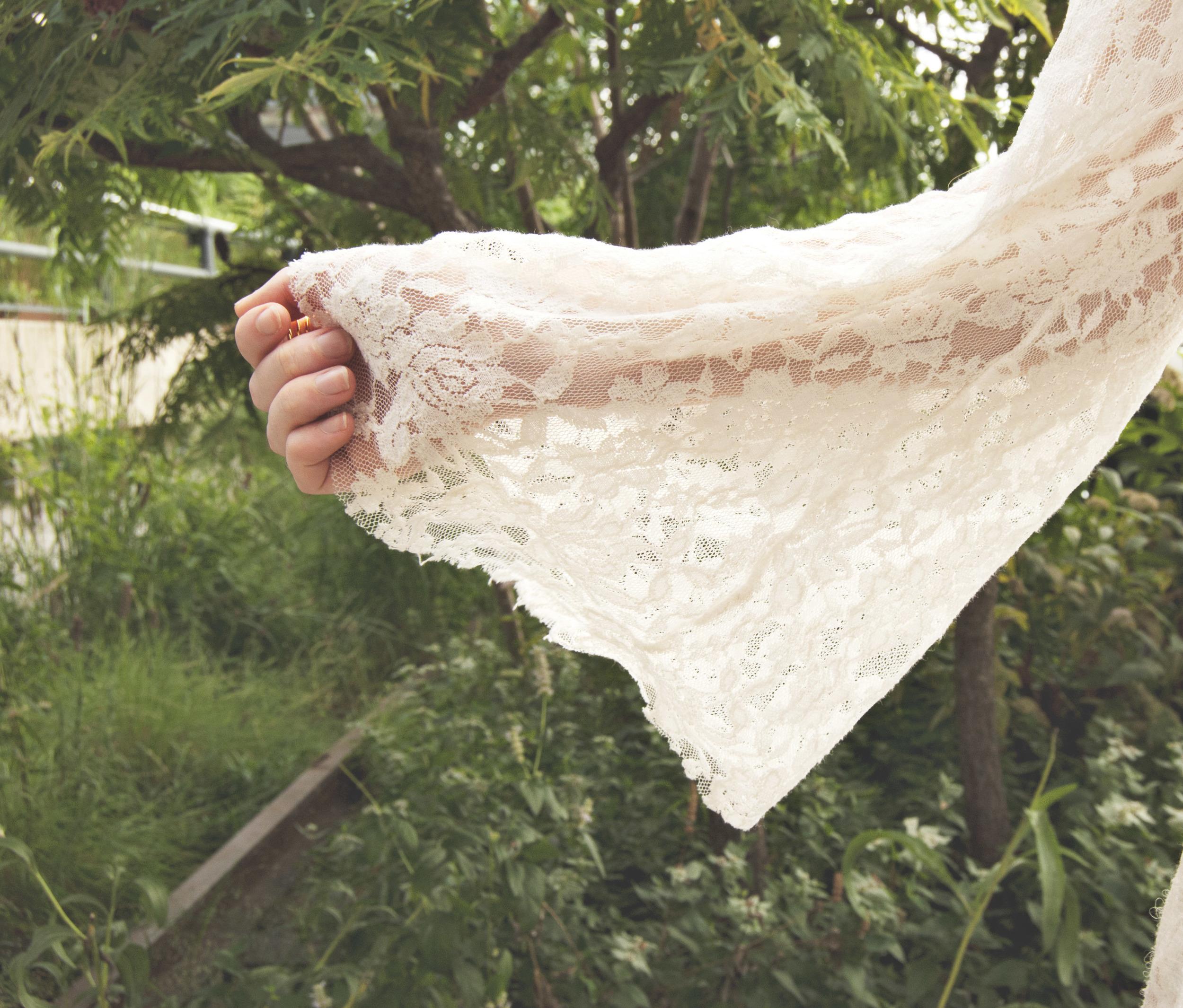 Sheer White Lace Sleeve (via Girl x Garment)