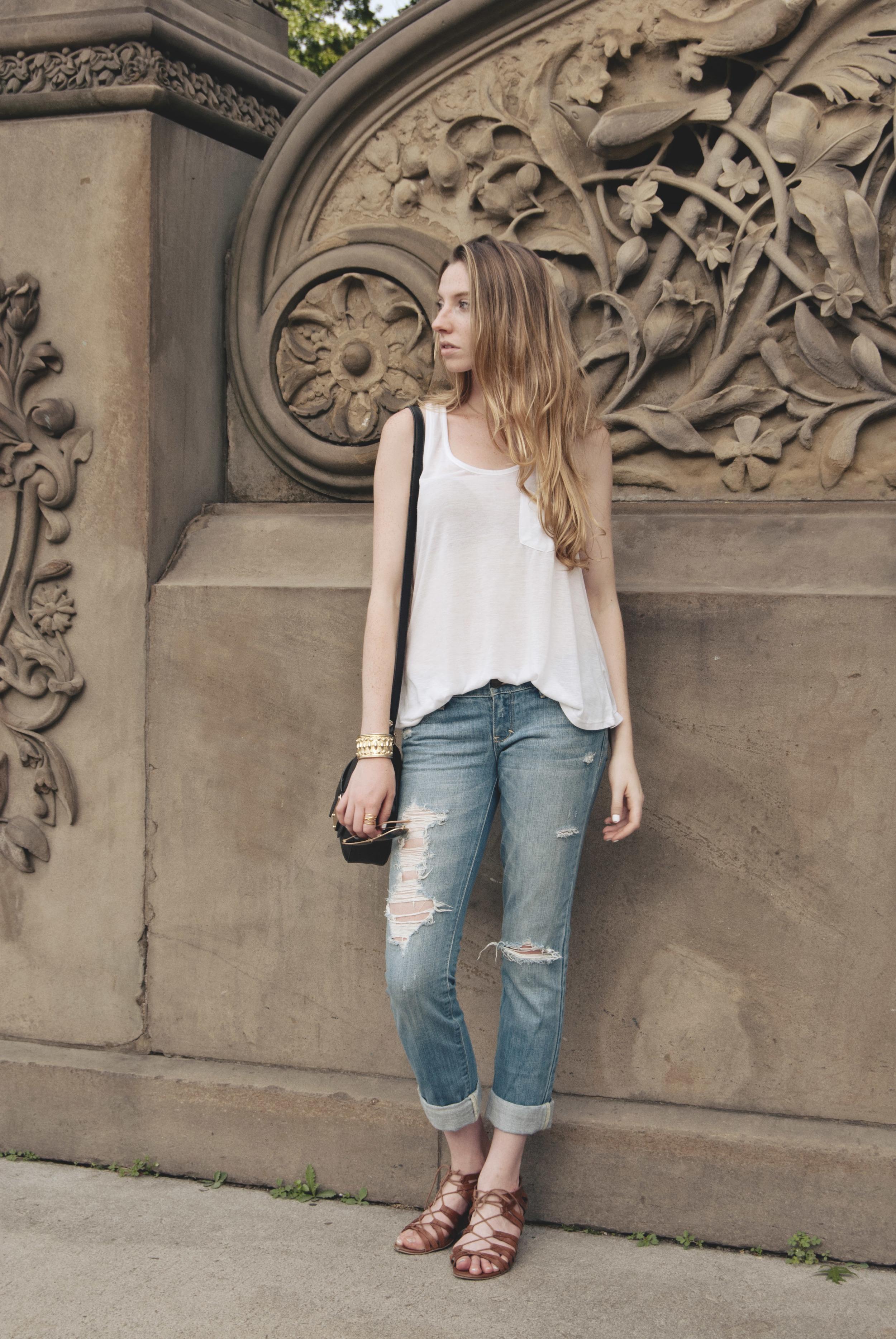 Dressed Up Ripped Distressed Denim (via Girl x Garment)