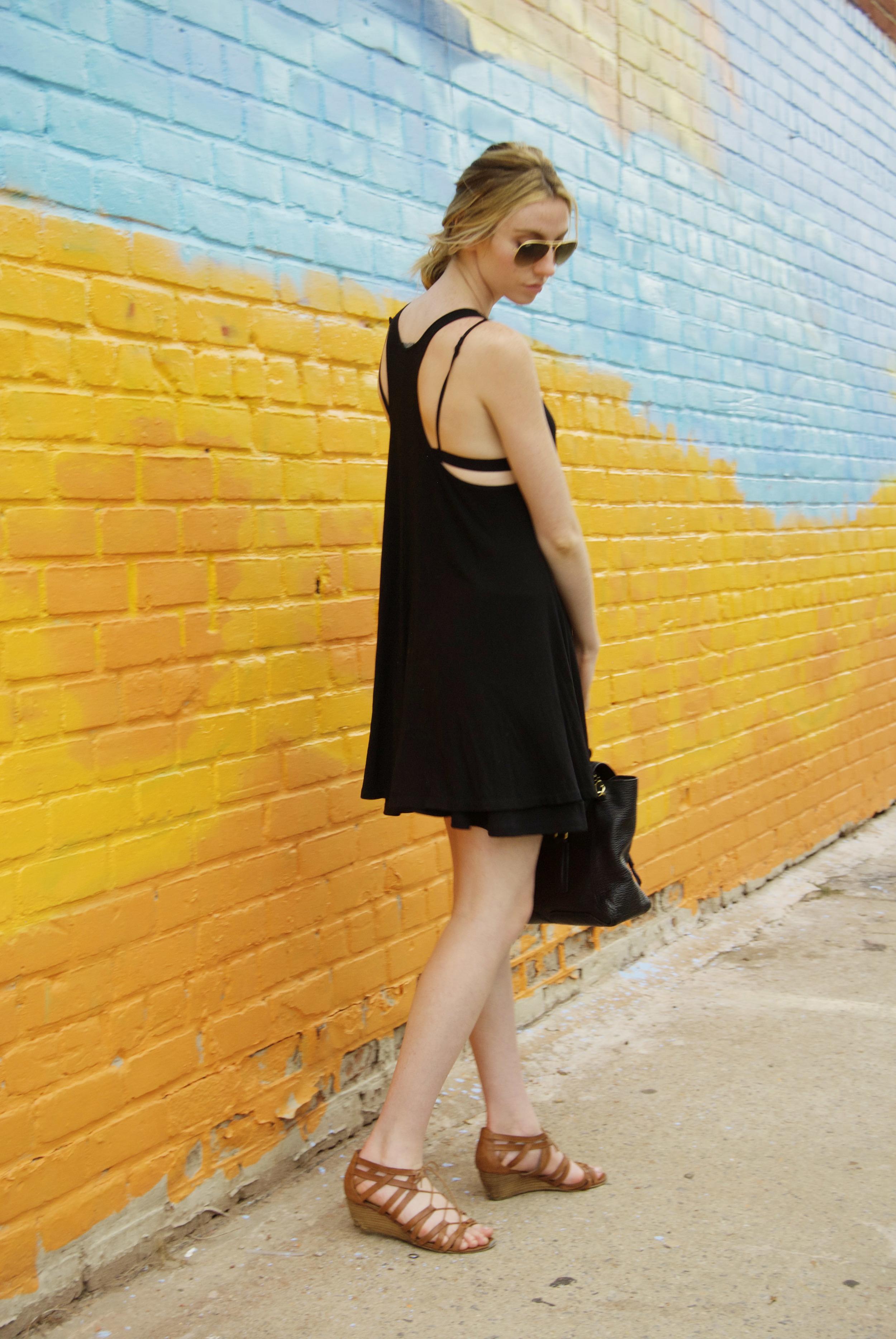 Black Brandy Melville Shift Dress (via Girl x Garment)