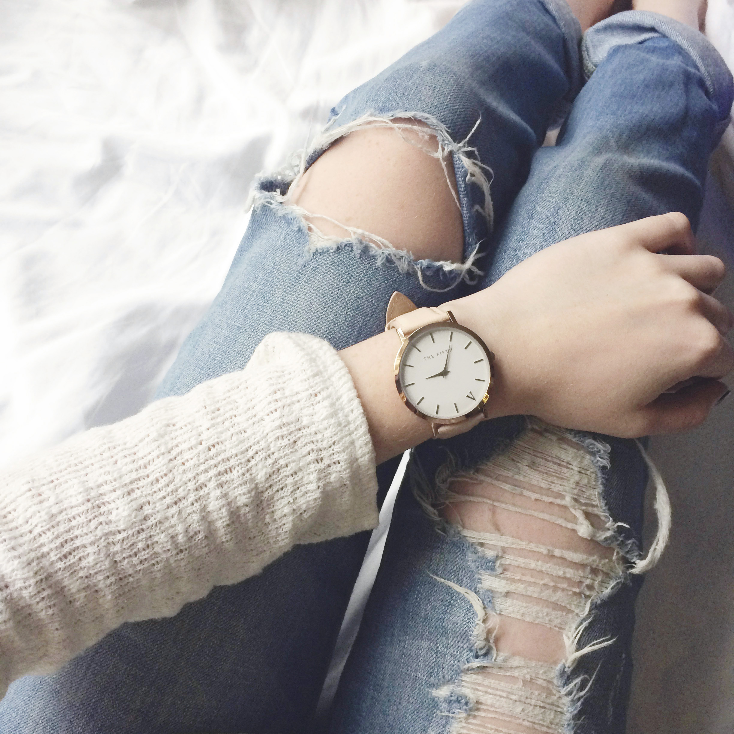 Rose Gold Soho Fifth Watch (via Girl x Garment)