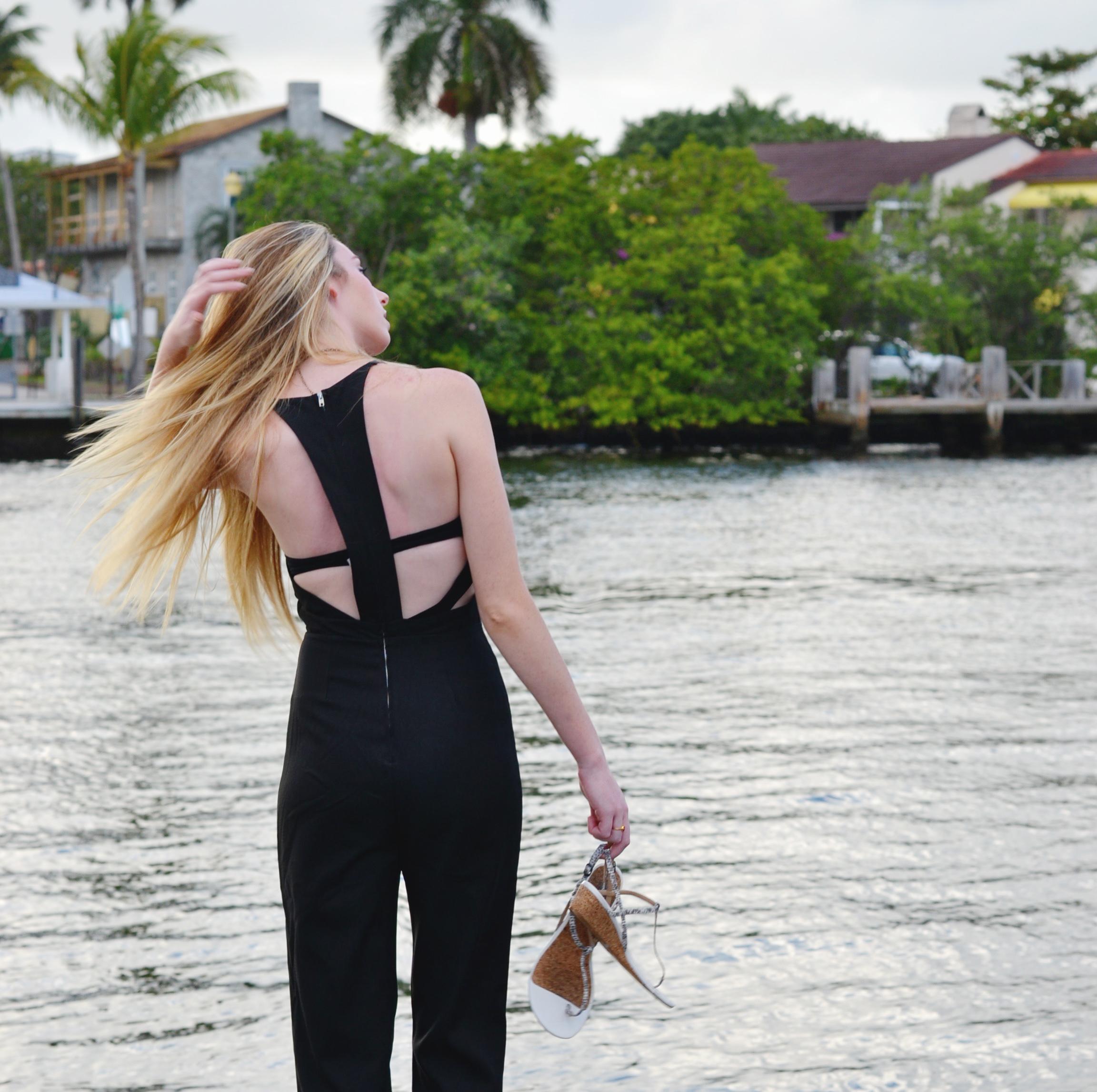 Blogger Black Jumpsuit (via Girl x Garment)