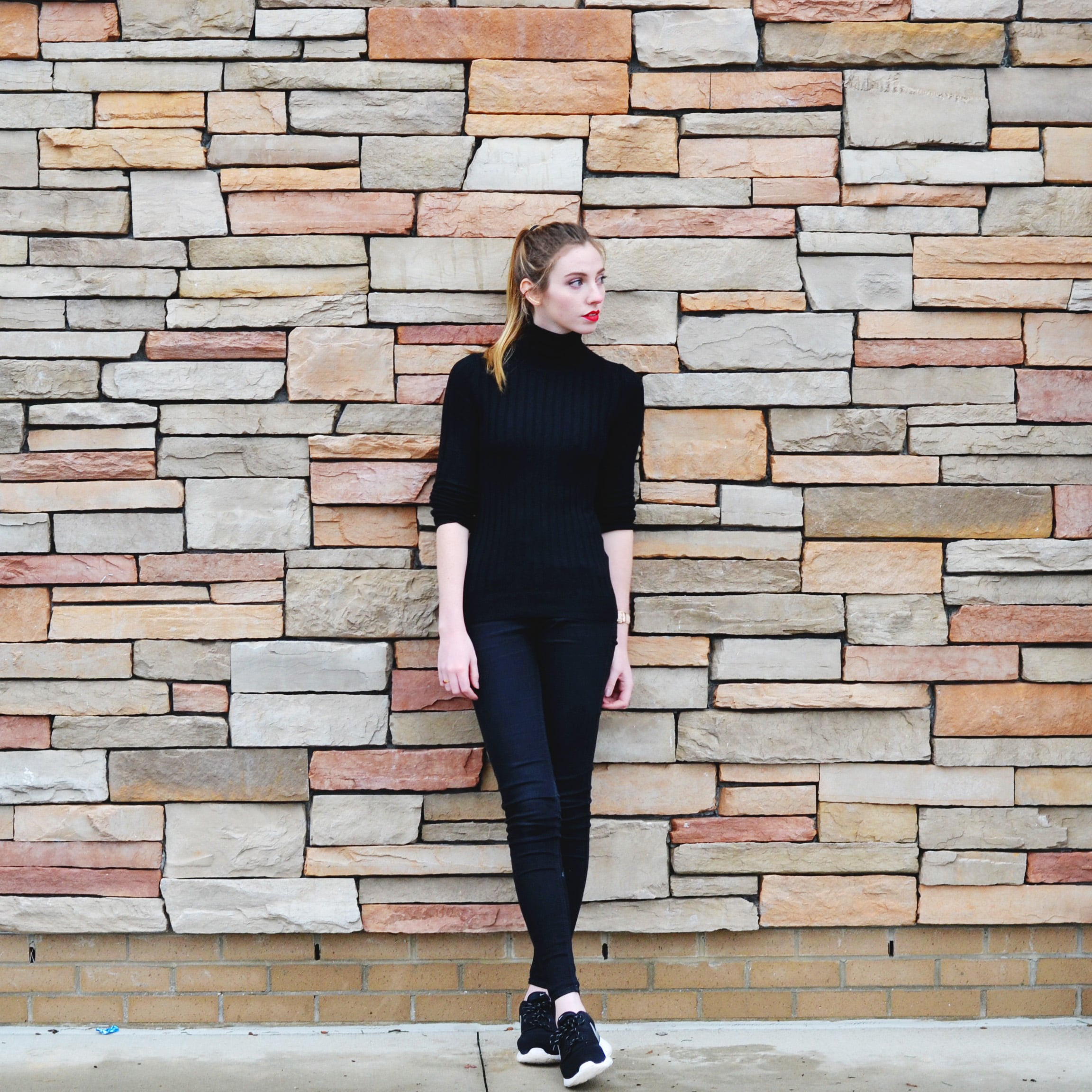 Black Turtleneck Outfit (via Girl x Garment)