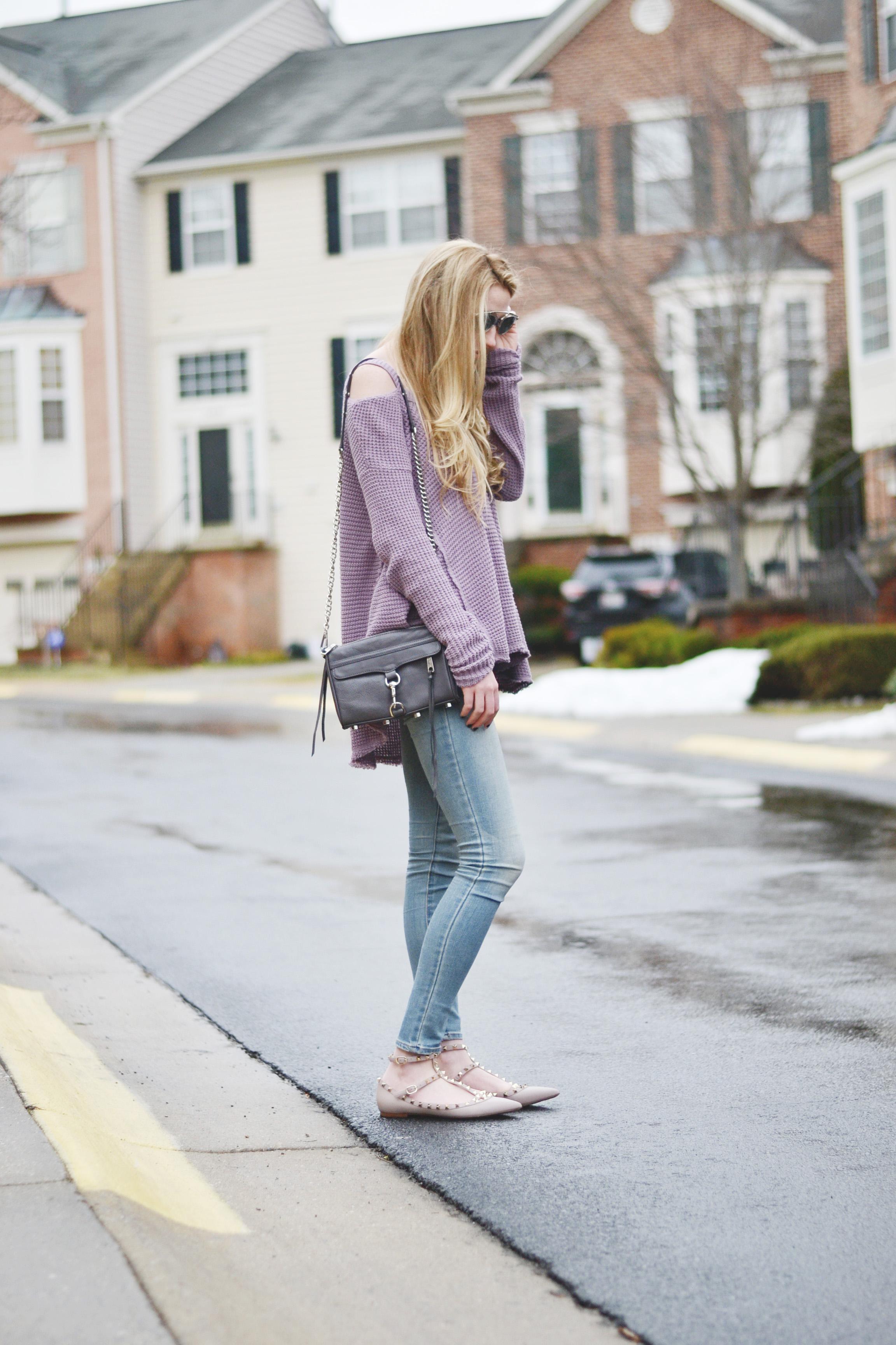 Cold Shoulder & Valentino Flats (via Girl x Garment)