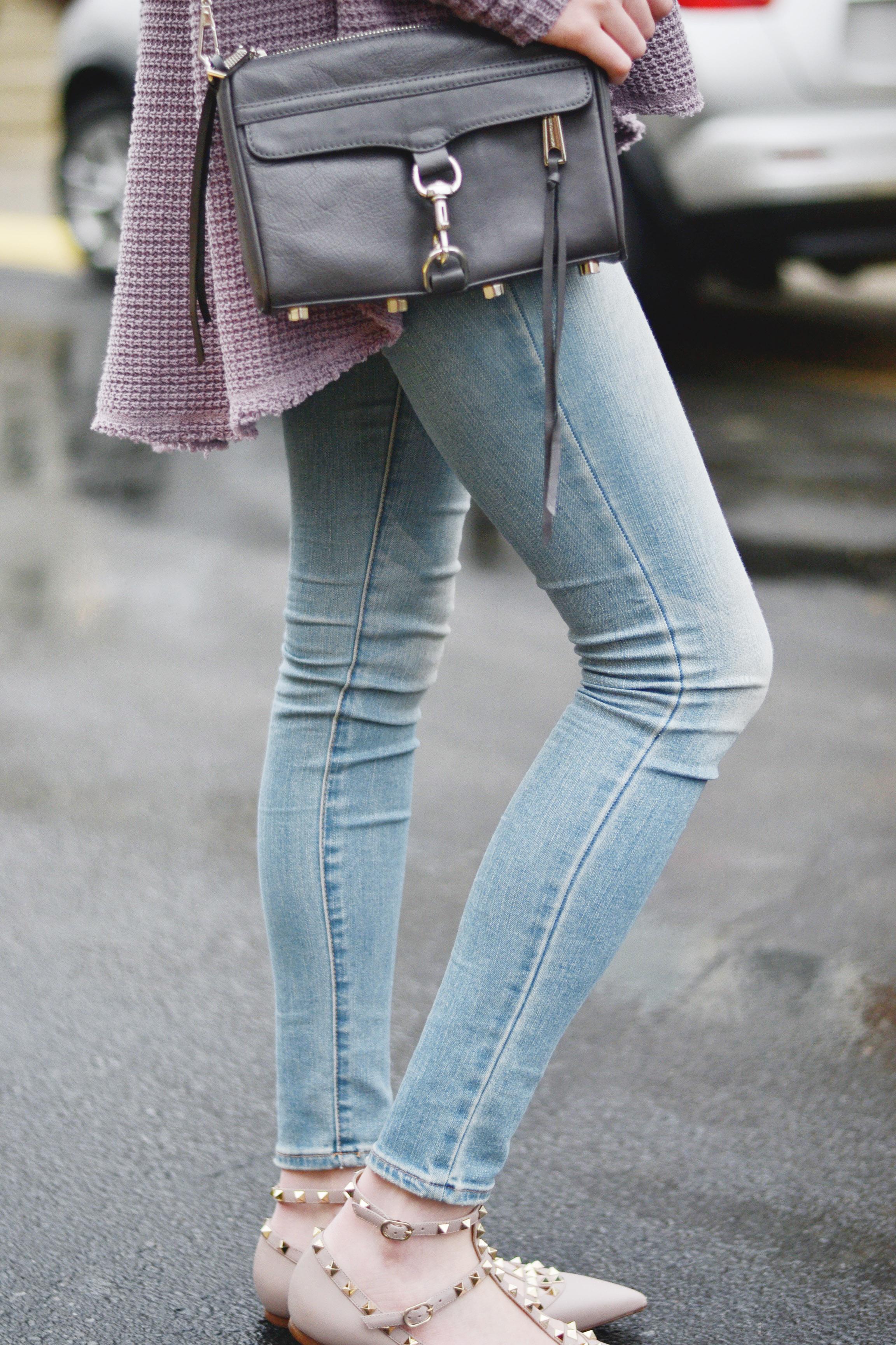Rebecca Minkoff Mini Mac & Valentino Flats (via Girl x Garment)