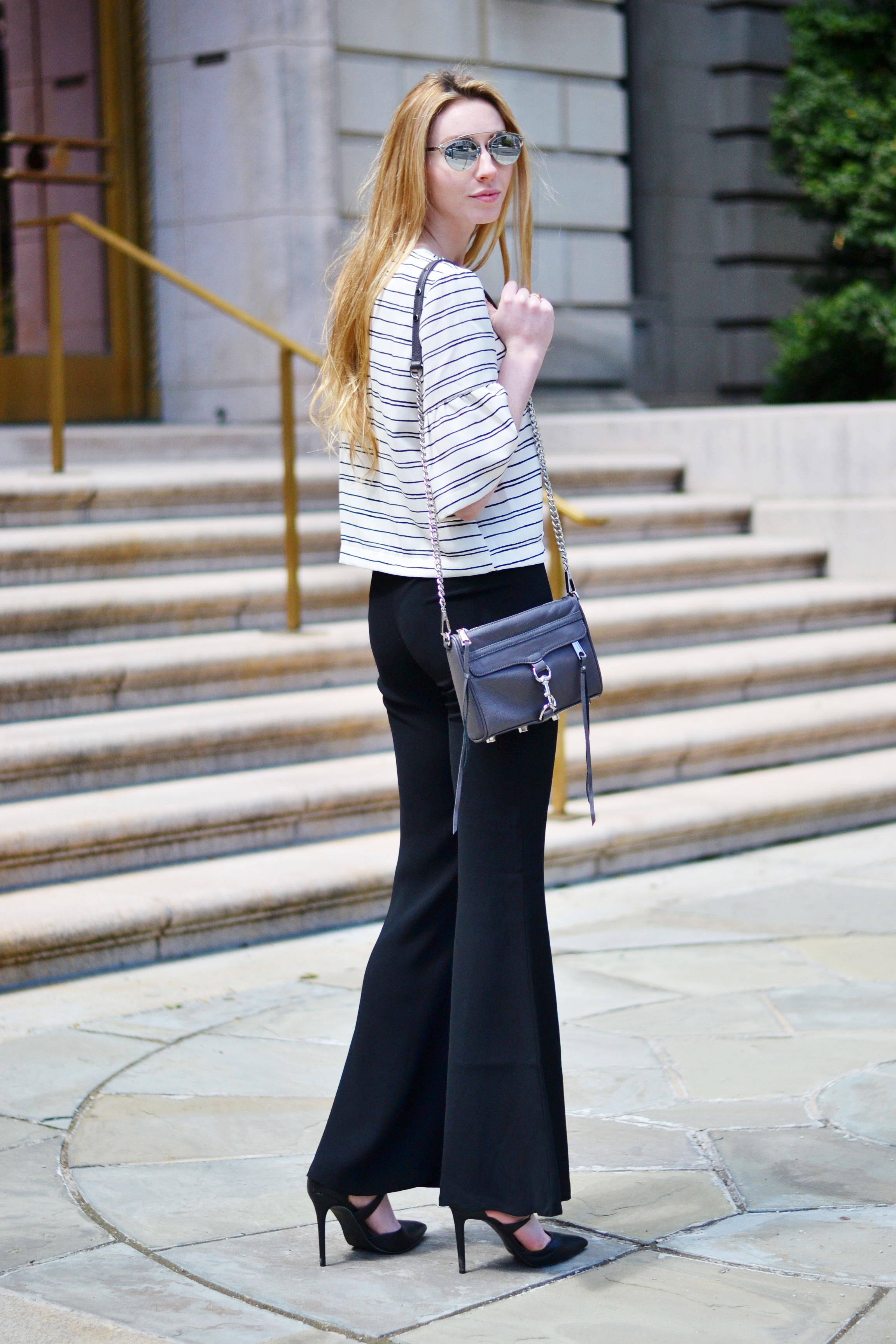 WhoWhatWear Collection Top & Flared Pants (via Chic Now)