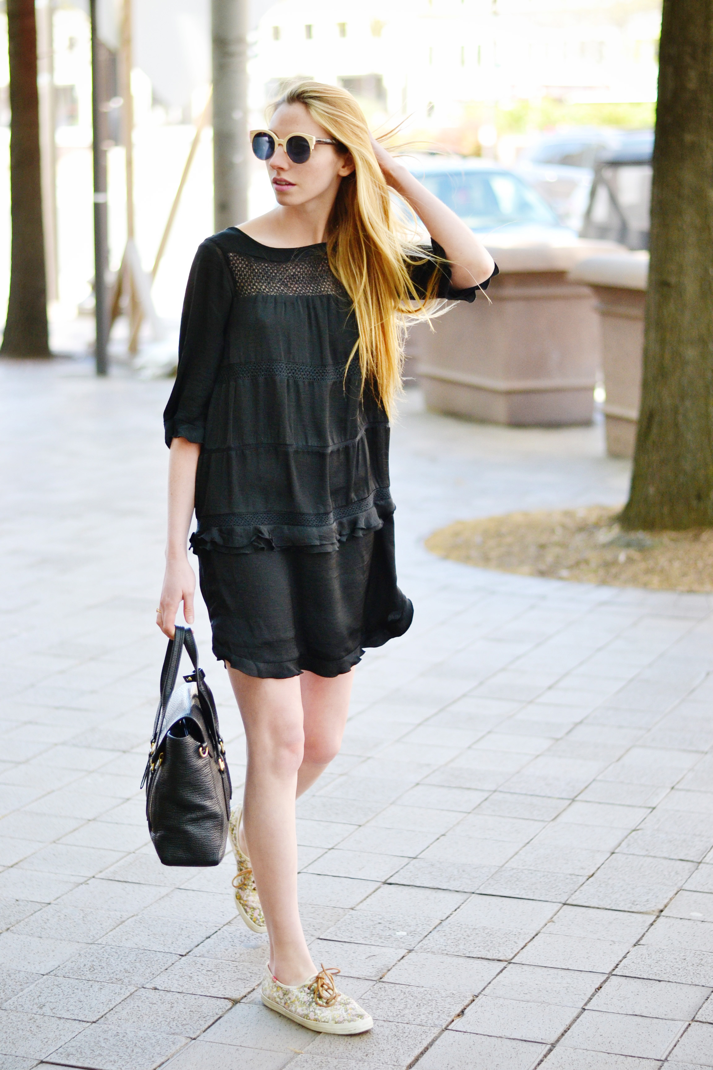 Who What Wear Black Dress (via Chic Now)