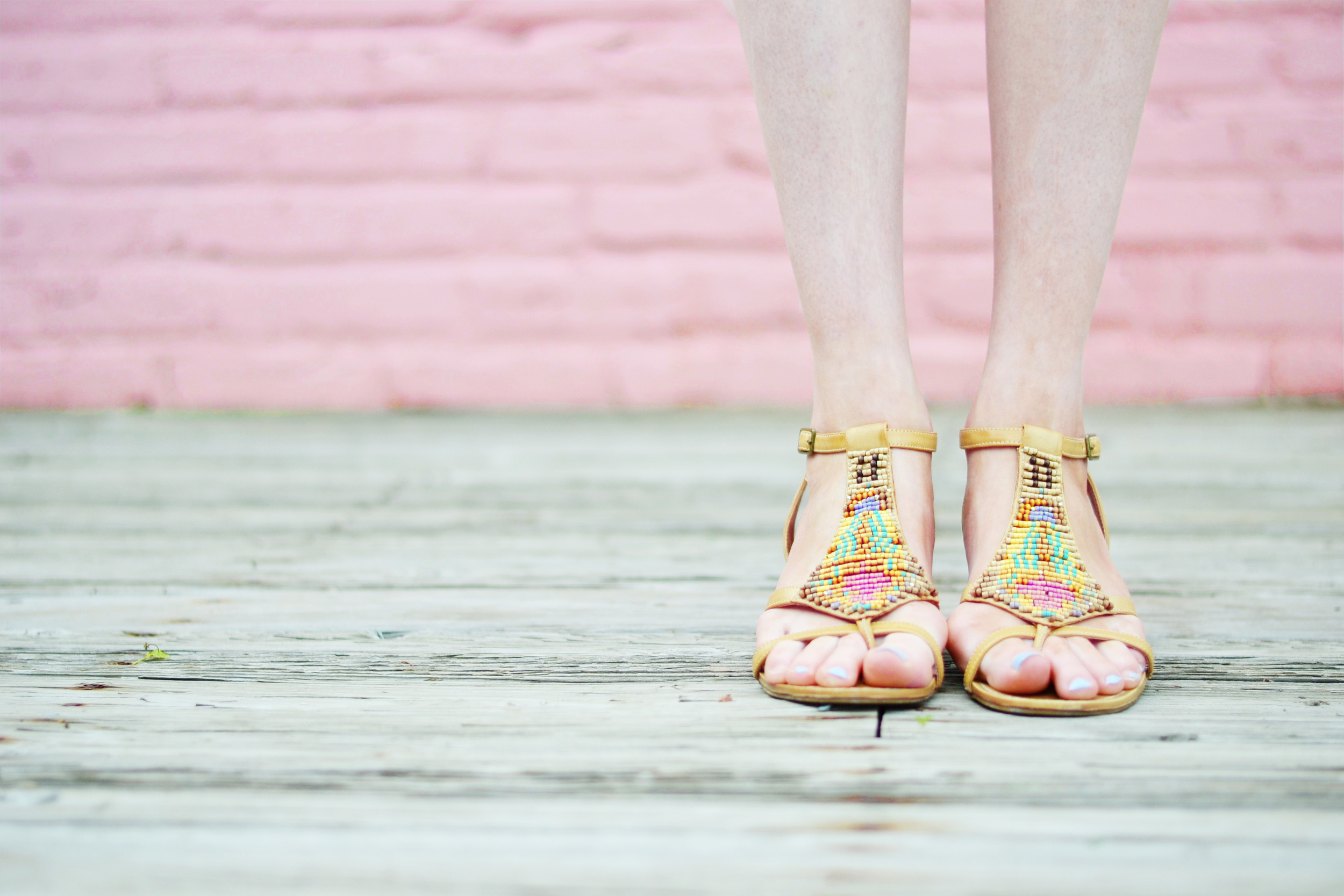 Beaded Colorful Blogger Sandals (via Chic Now)