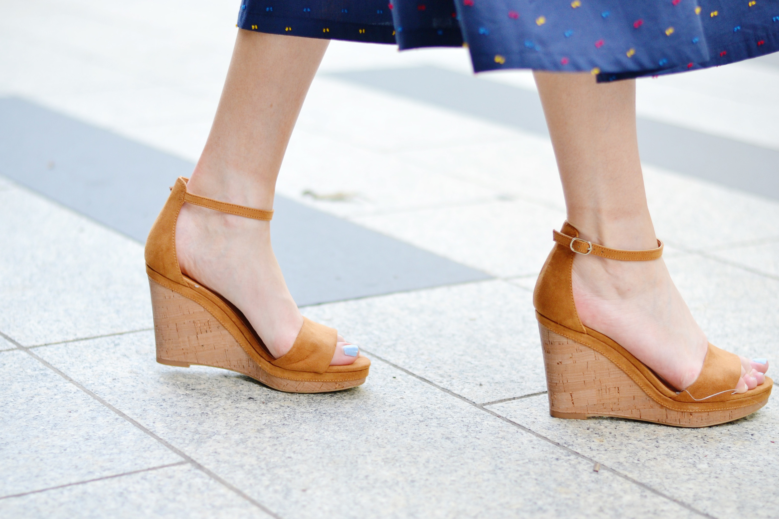 Blogger H&M Wedge Sandals (via Chic Now)