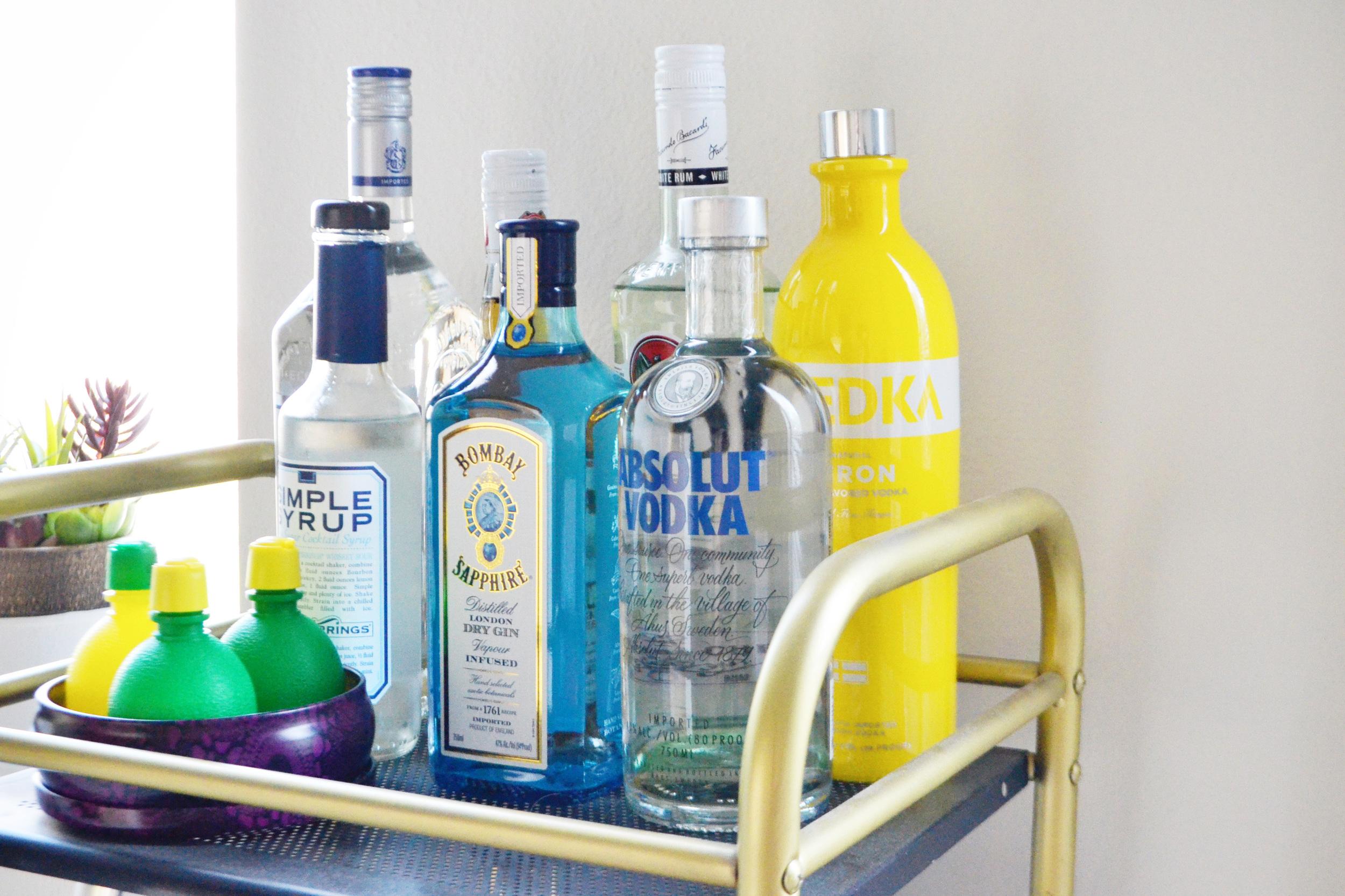 Bar Cart Essentials (via Chic Now)