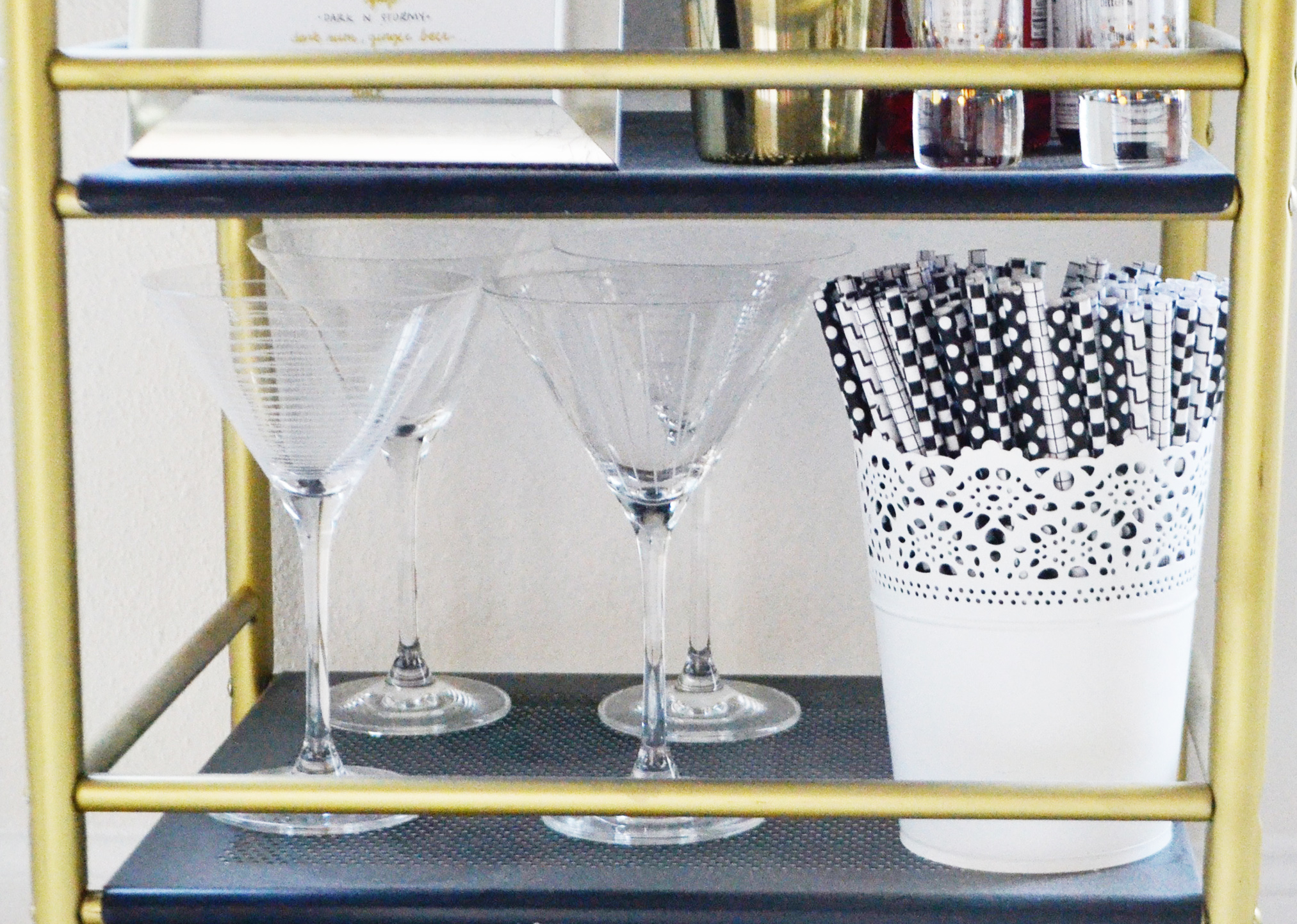 What to Buy for a Bar Cart (via Chic Now)