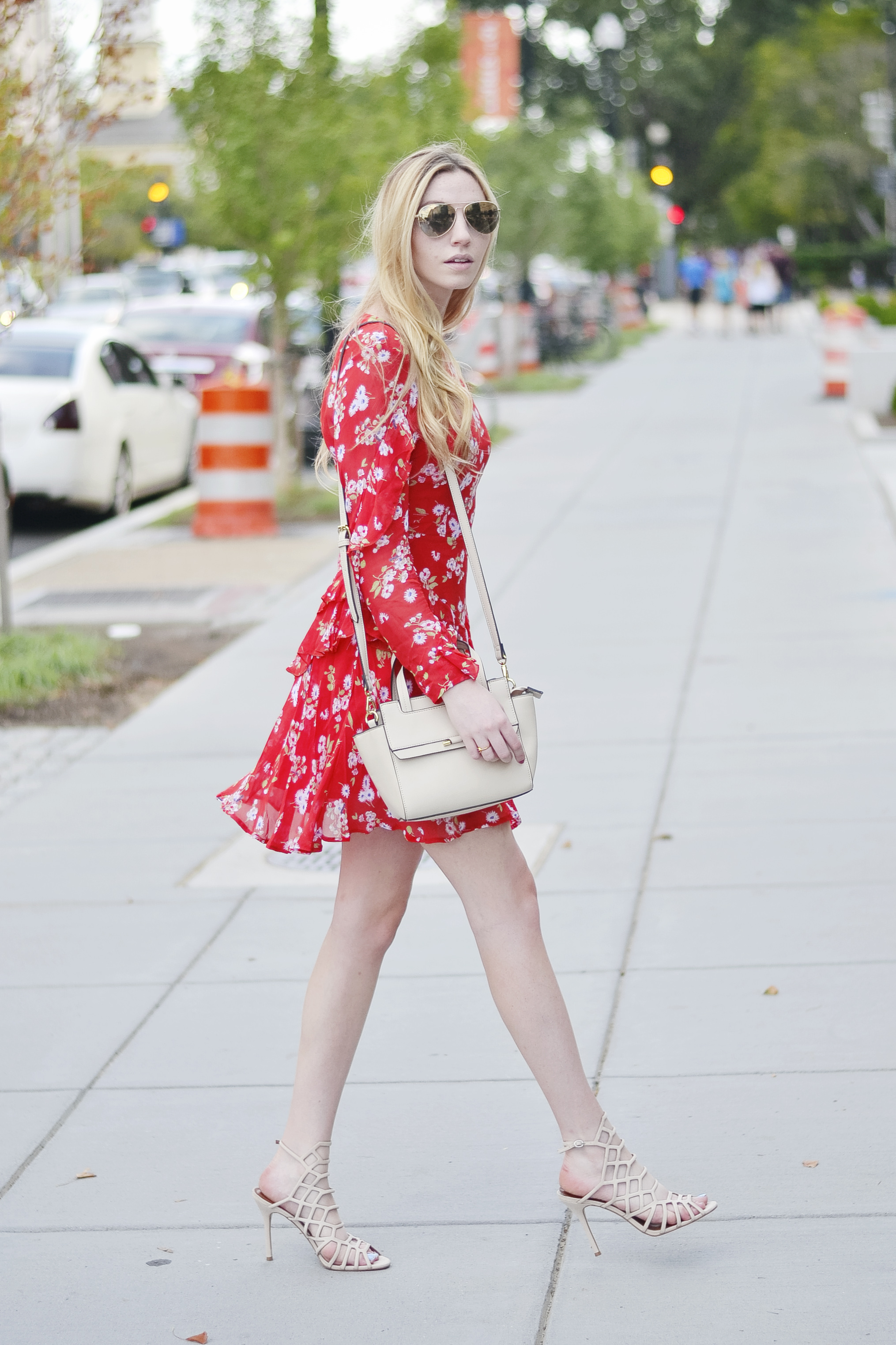 Gucci Red Dress Dupe Outfit (via Chic Now)