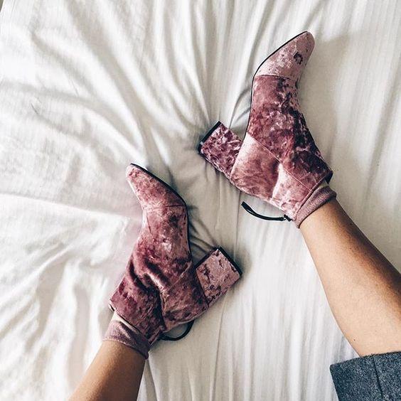 Velvet Shoes (via Pinterest)