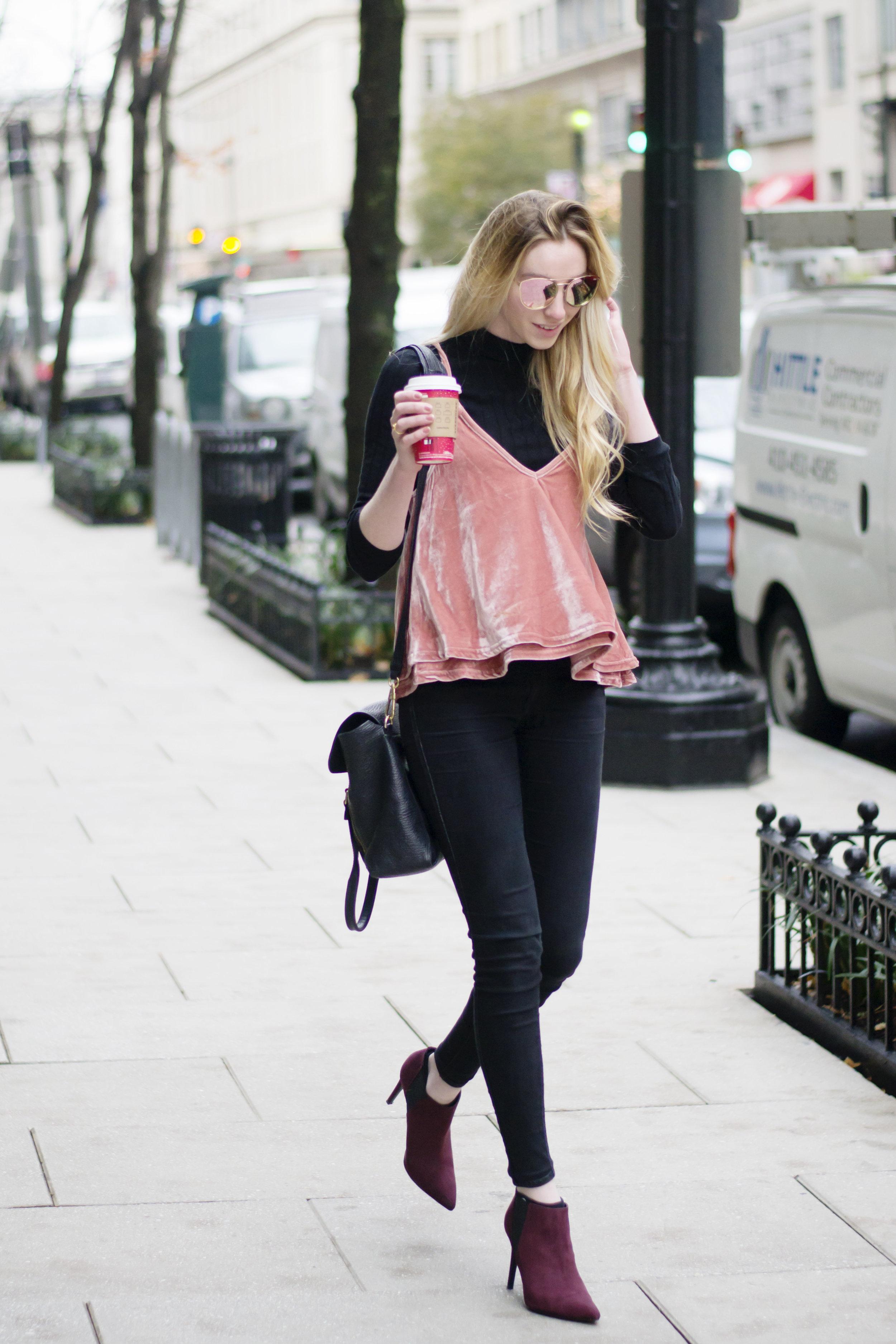 Blogger Blush Velvet Top