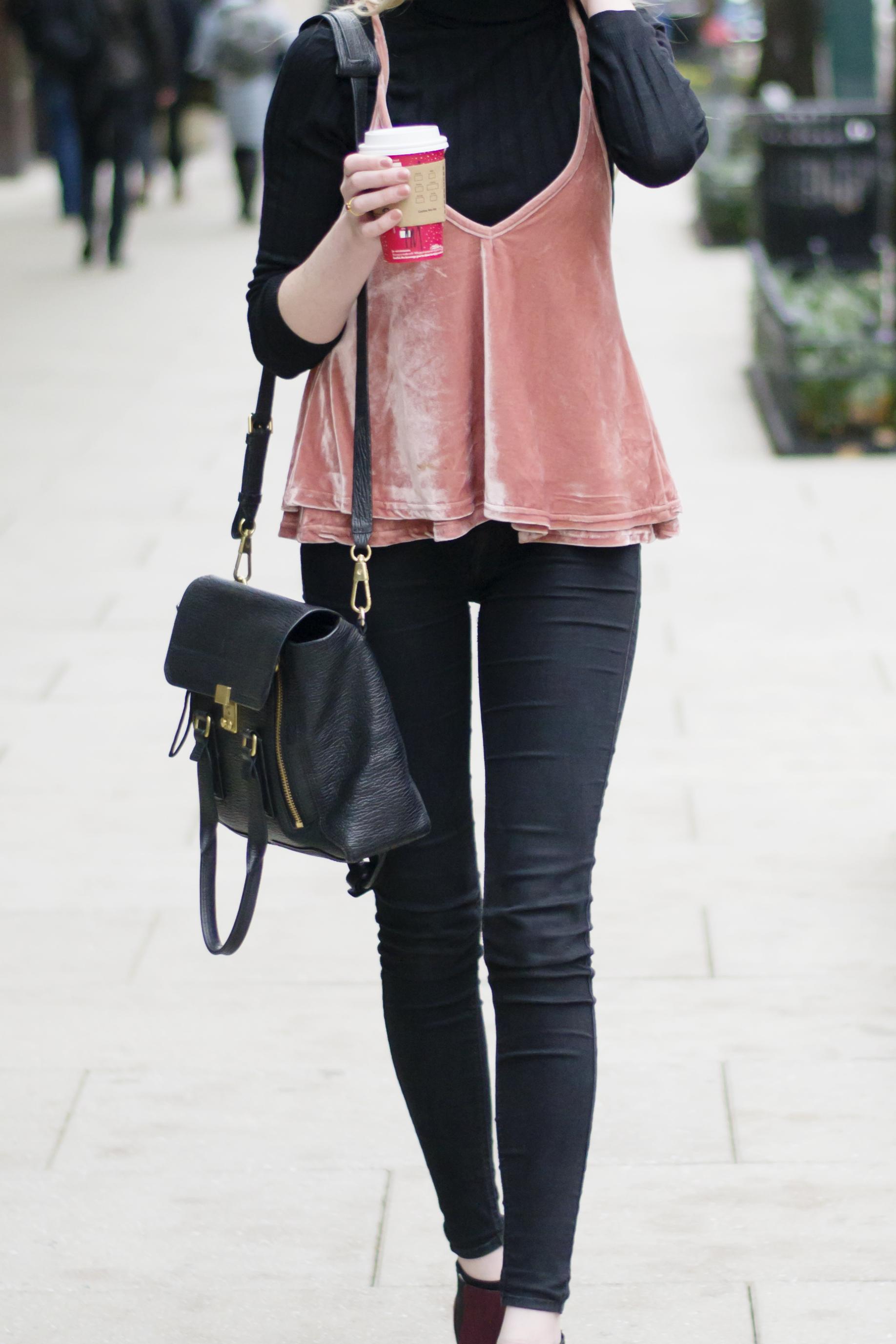 Blogger Blush Velvet Cami