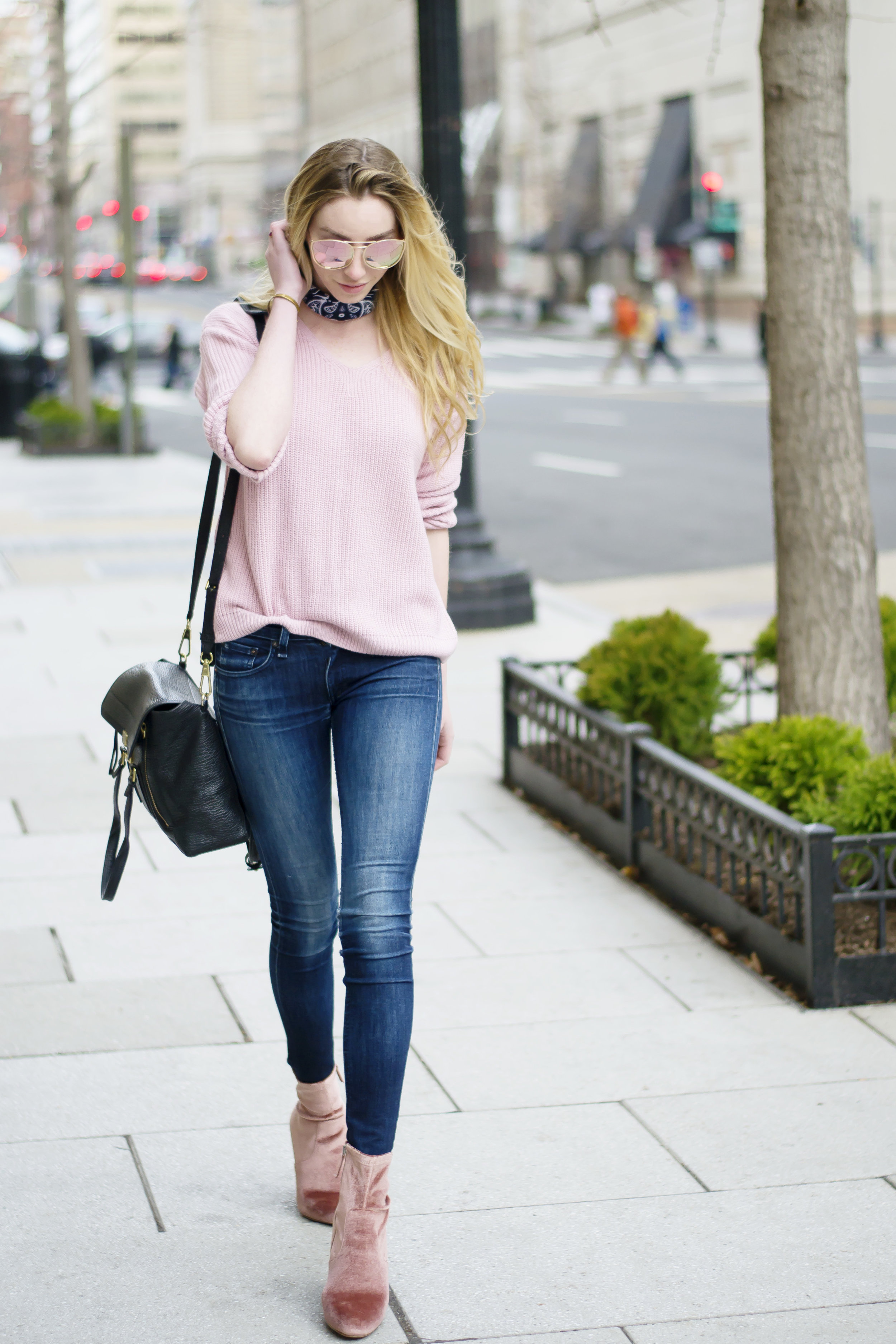 Blogger Pink Sweater