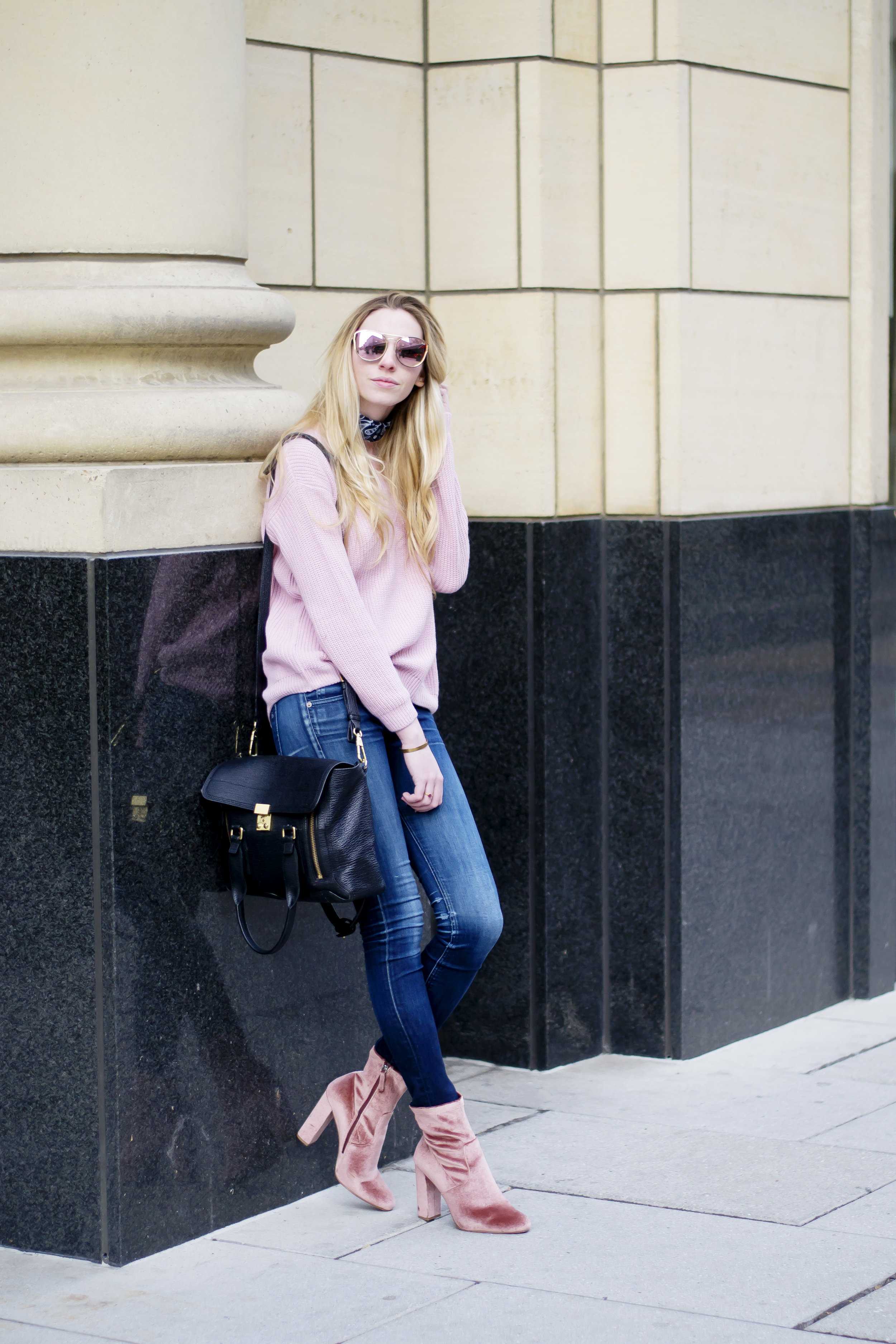 Pink Sweater Winter Outfit