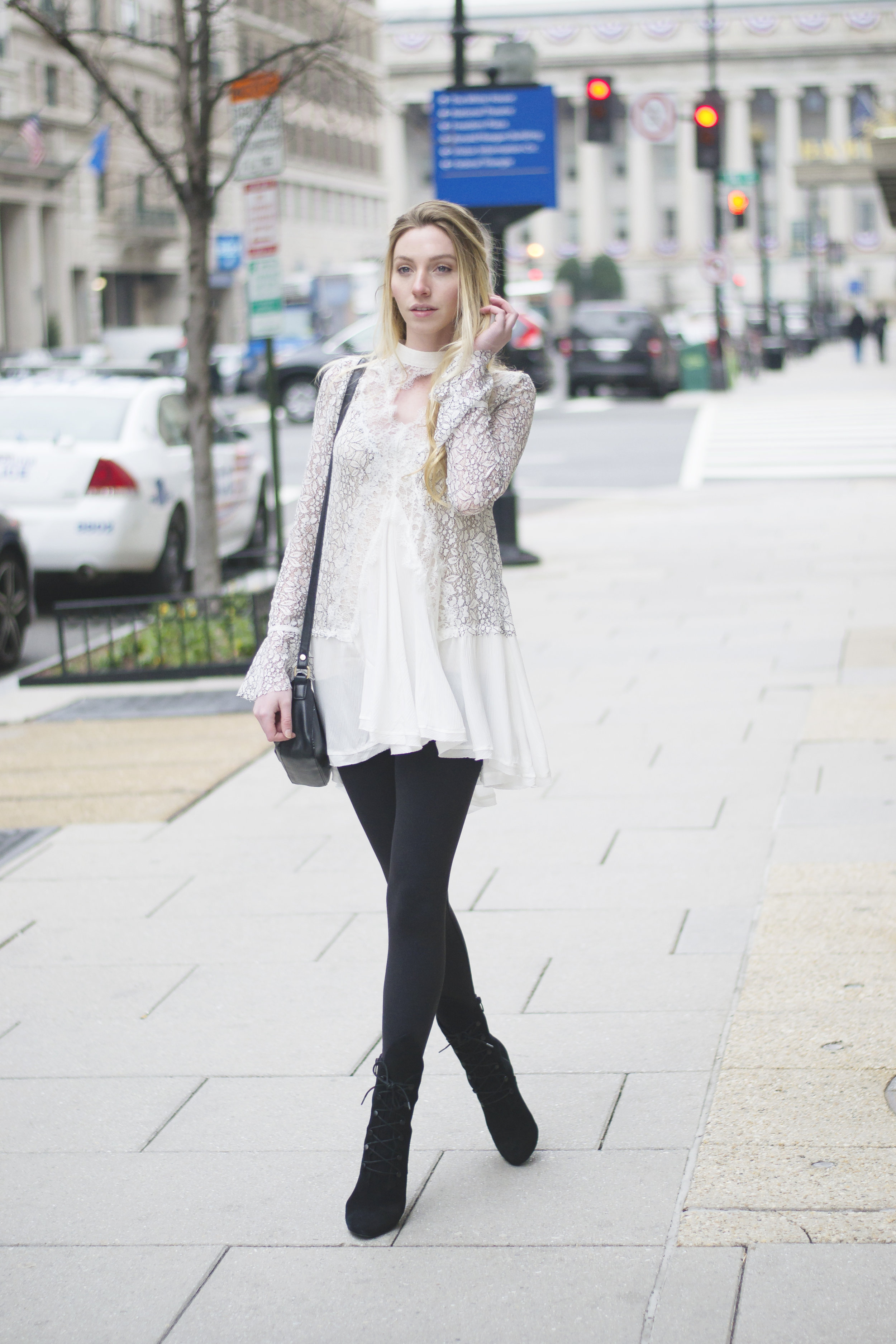 White Lace Winter Style