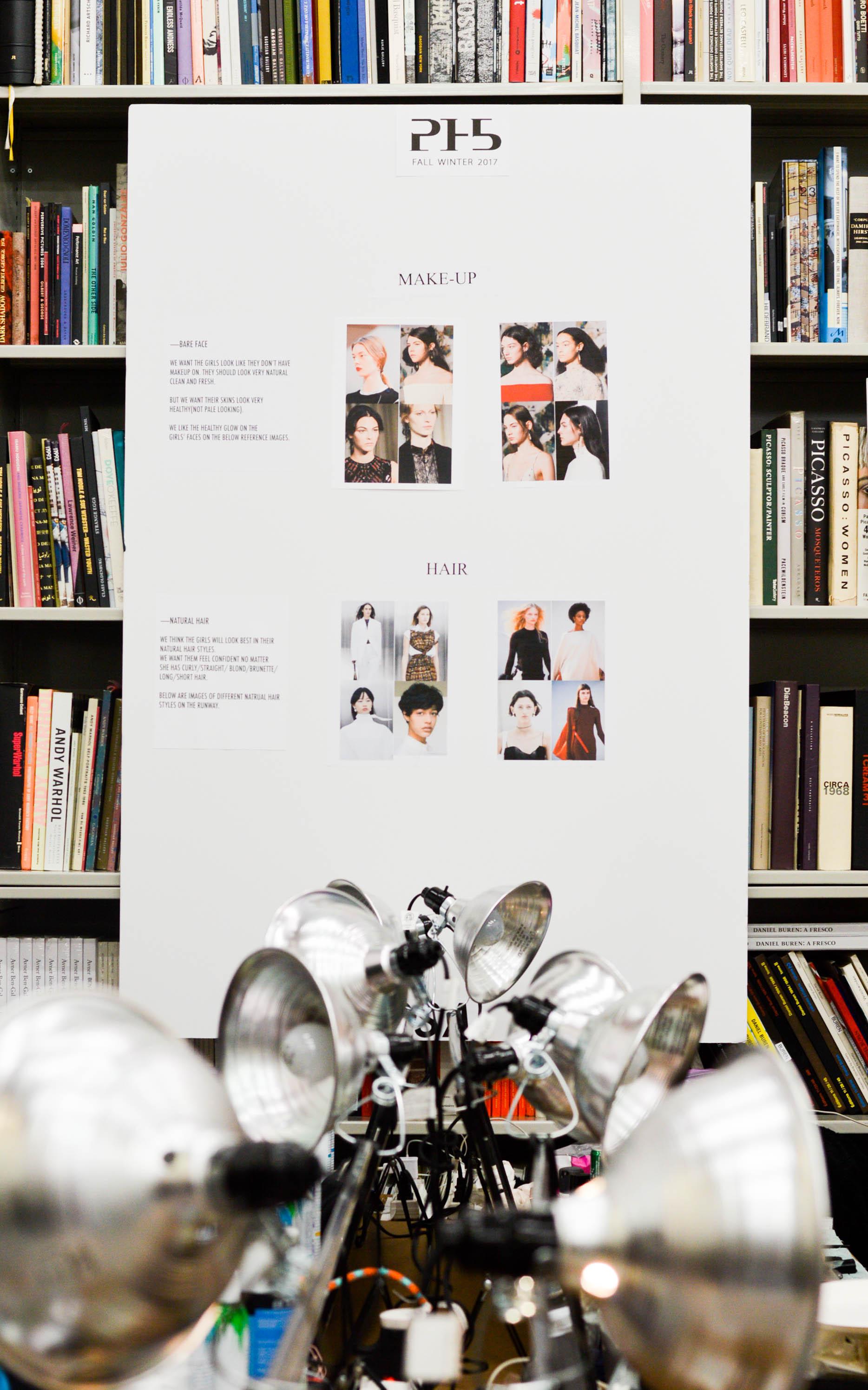 Beauty Concept Board at PH5 NYFW F/W17