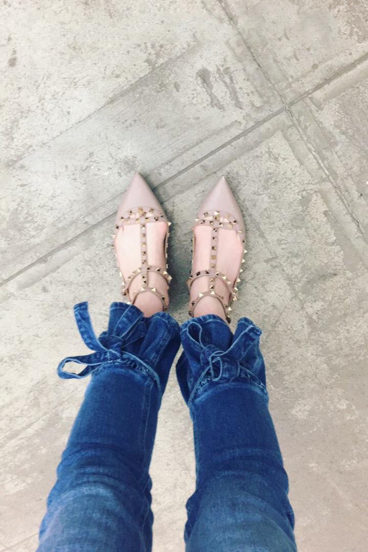 Blogger Flared Hem Jeans